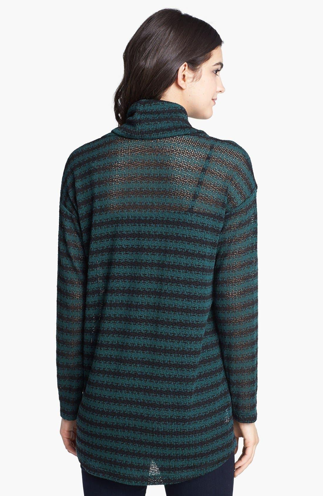 Alternate Image 2  - Splendid Cowl Neck Stripe Sweater