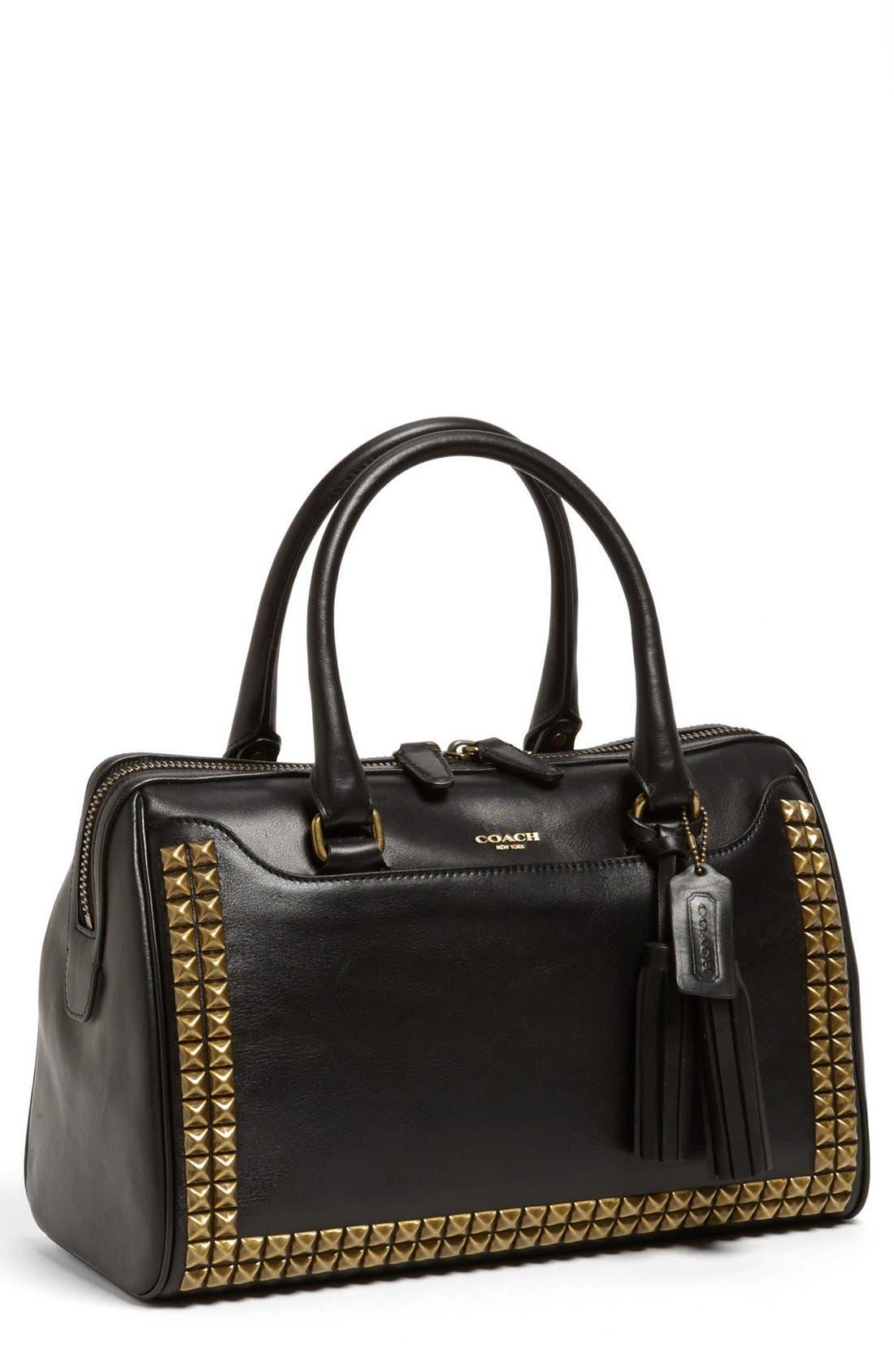 Main Image - COACH 'Legacy Hayley - Stud' Leather Satchel