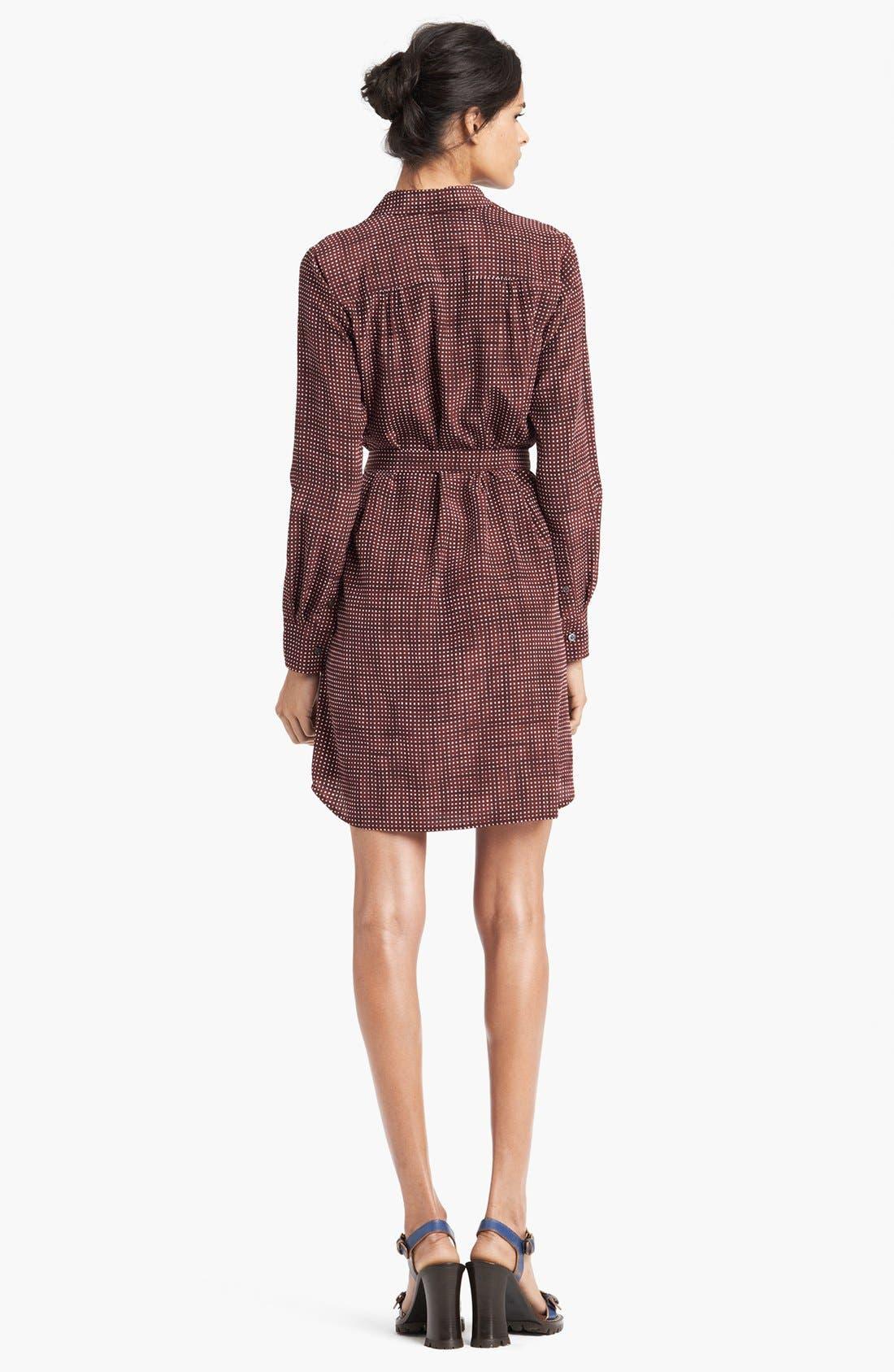 Alternate Image 2  - MARC JACOBS Belted Silk Crepe Shirtdress