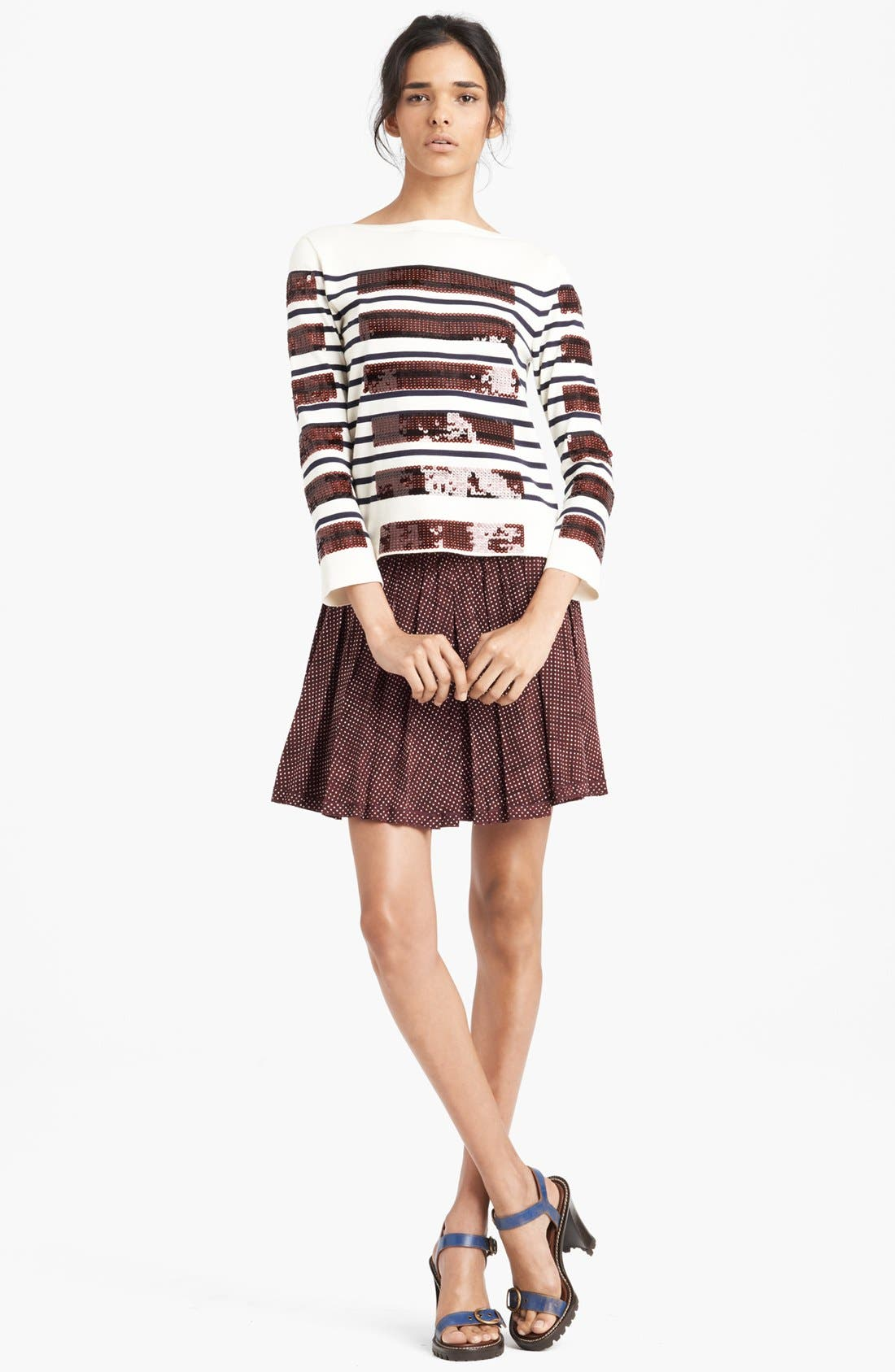 Alternate Image 3  - MARC JACOBS Pleated Silk Crepe Miniskirt