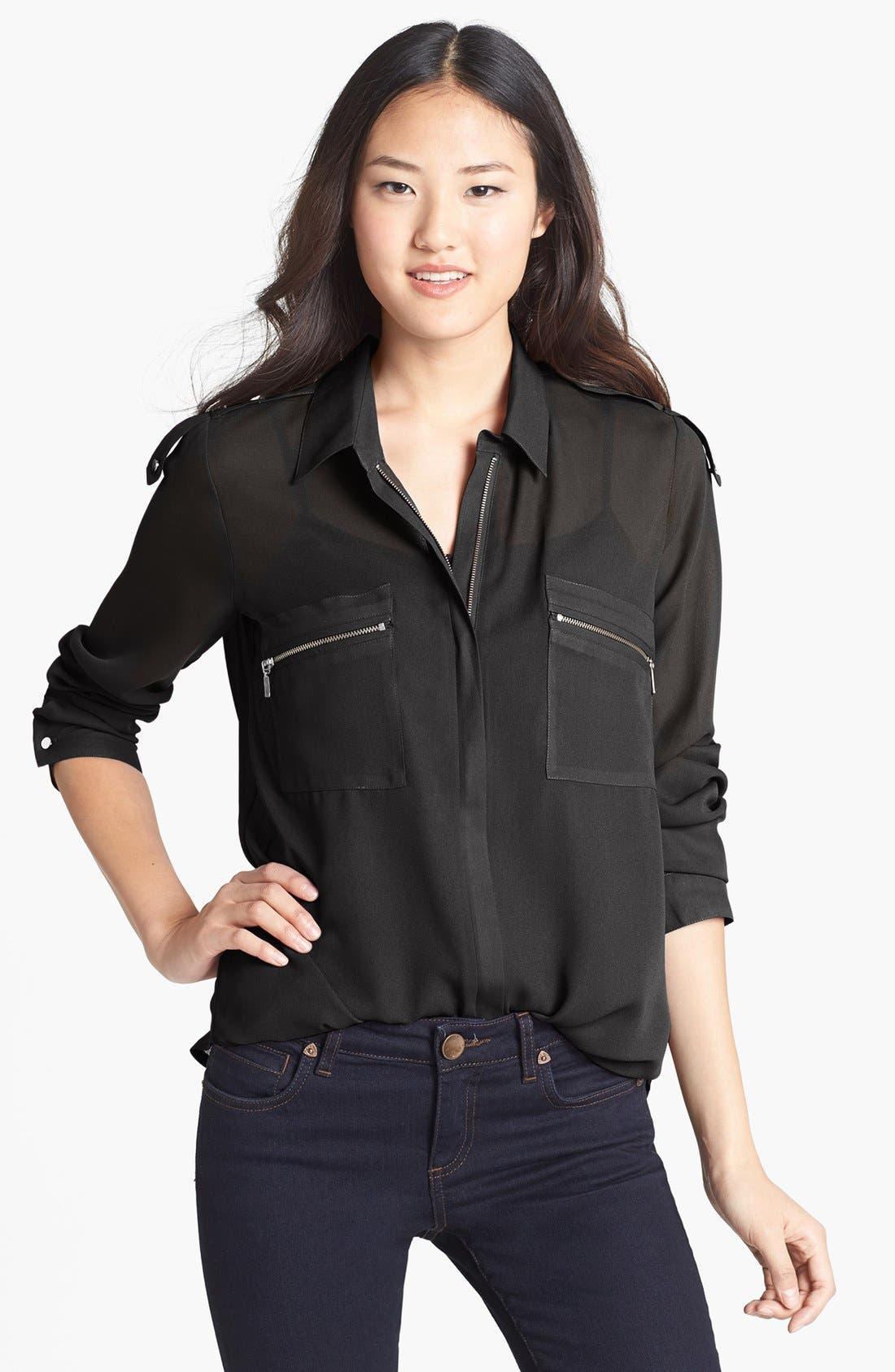 Alternate Image 1 Selected - KUT from the Kloth Zip Detail Blouse
