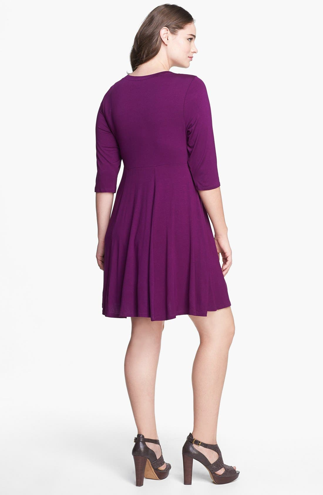 Alternate Image 2  - Evans Skater Dress (Plus Size)
