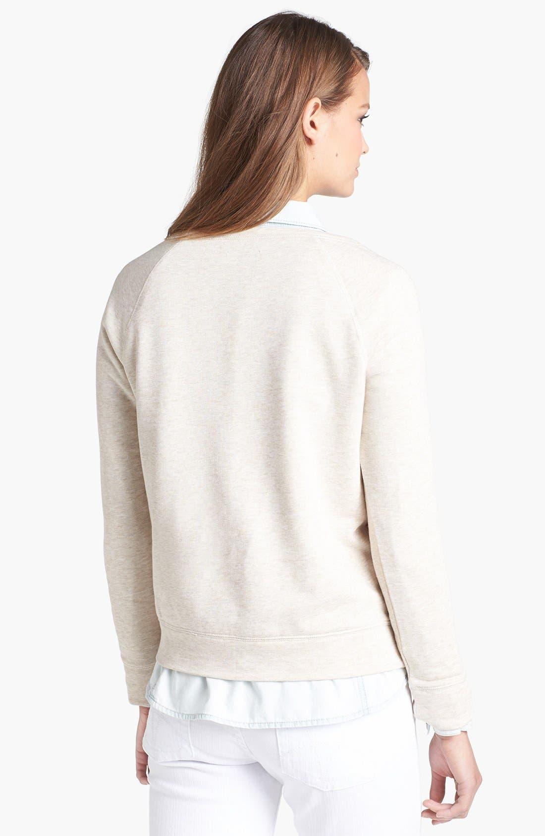 Alternate Image 2  - Halogen® Stripe Front Sweatshirt
