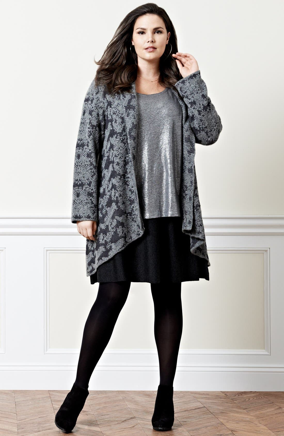 Alternate Image 5  - Eileen Fisher Shawl Collar Cardigan (Plus Size)
