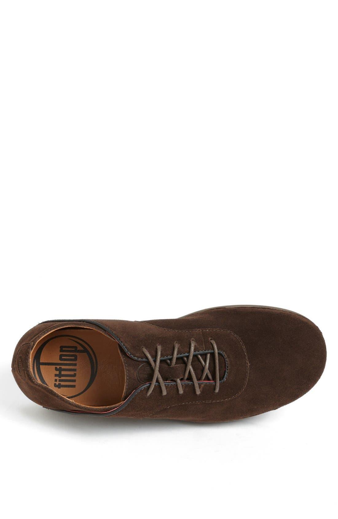 Alternate Image 3  - FitFlop 'Flex™' Suede Sneaker (Men)