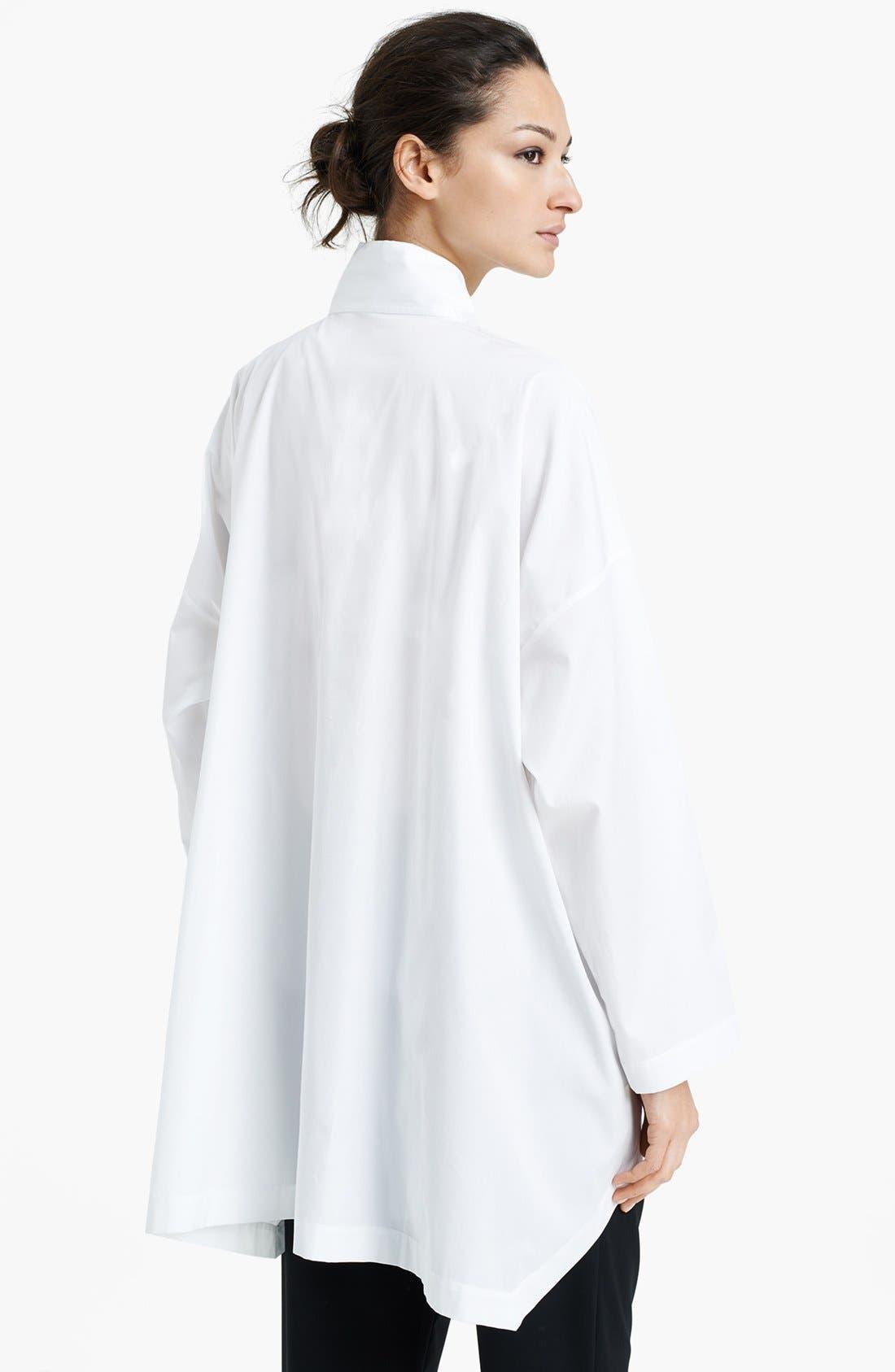 Alternate Image 2  - eskandar Bib Front Poplin Shirt
