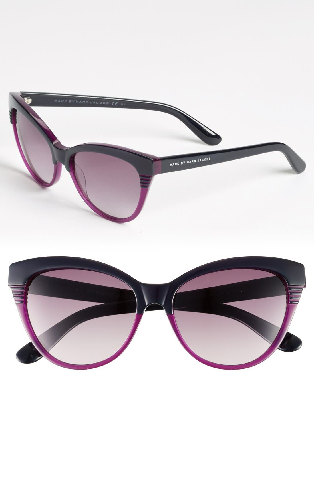 Main Image - MARC BY MARC JACOBS 55mm Cat Eye Sunglasses