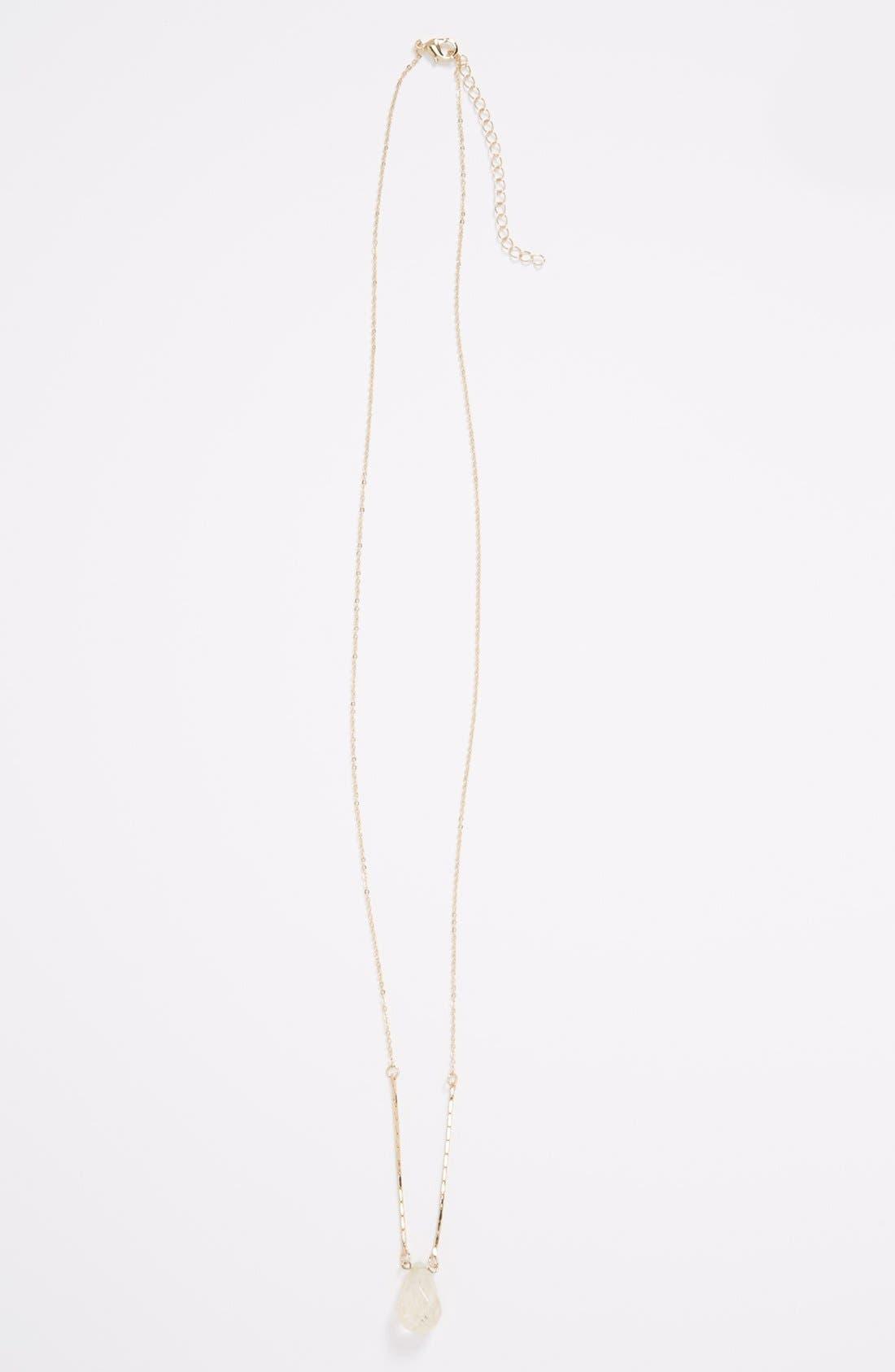 Alternate Image 1 Selected - Stephan & Co. Teardrop Stone Pendant Necklace (Juniors)