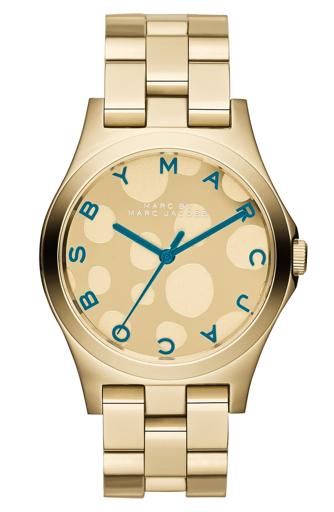 Main Image - MARC BY MARC JACOBS 'Henry Glossy Pop' Bracelet Watch, 37mm