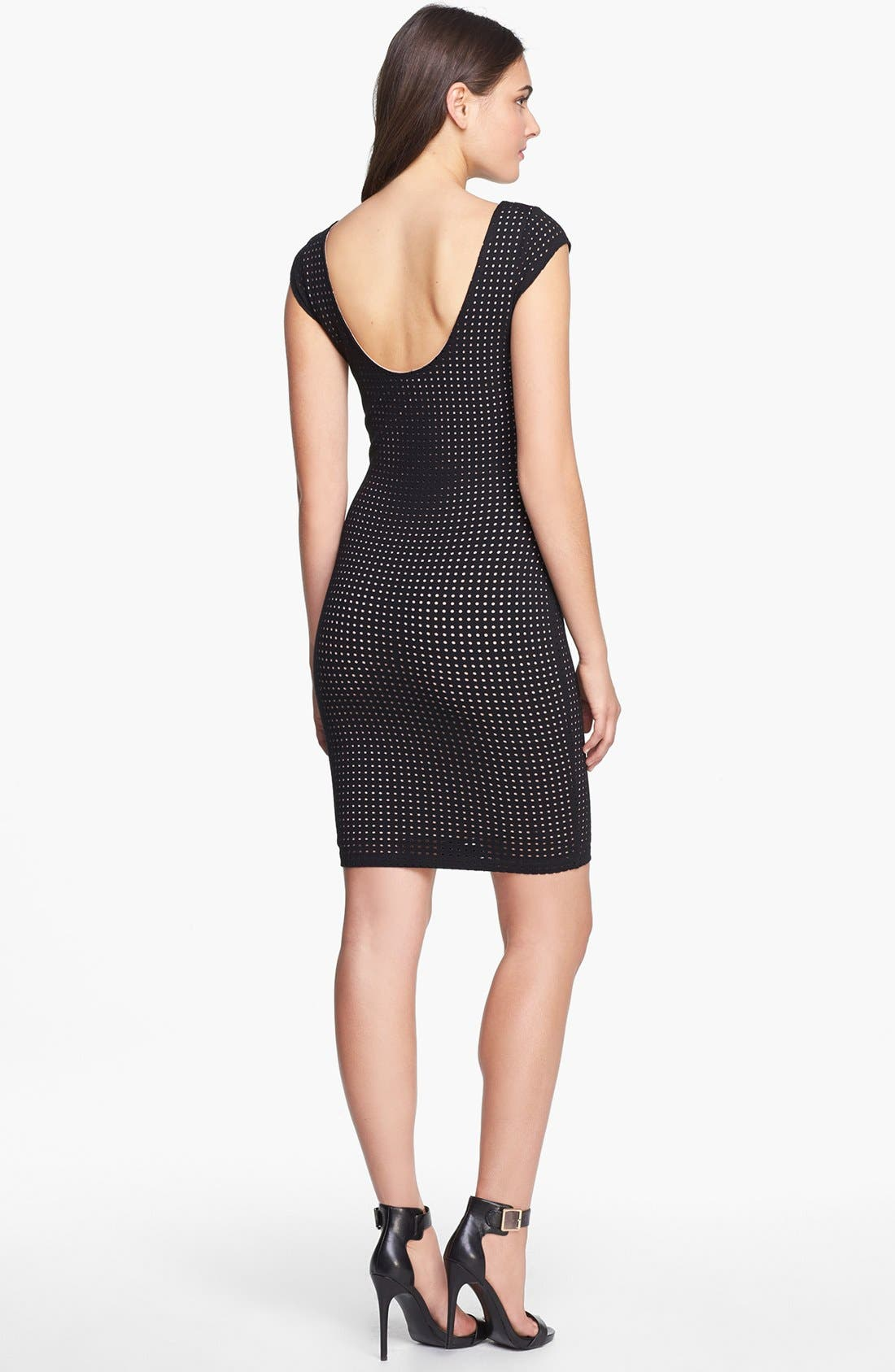 Alternate Image 2  - Tart 'Remi' Perforated Ponte Knit Body-Con Dress