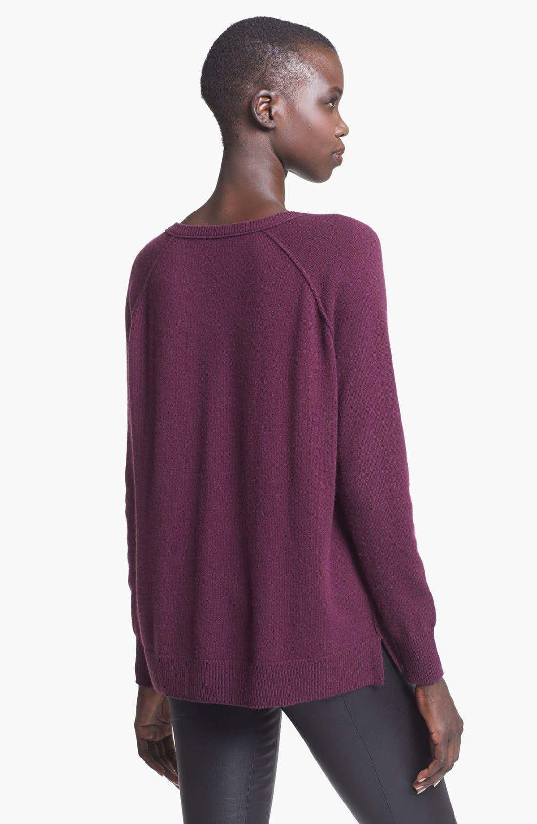 Alternate Image 2  - autumn cashmere V-Neck Cashmere Sweater
