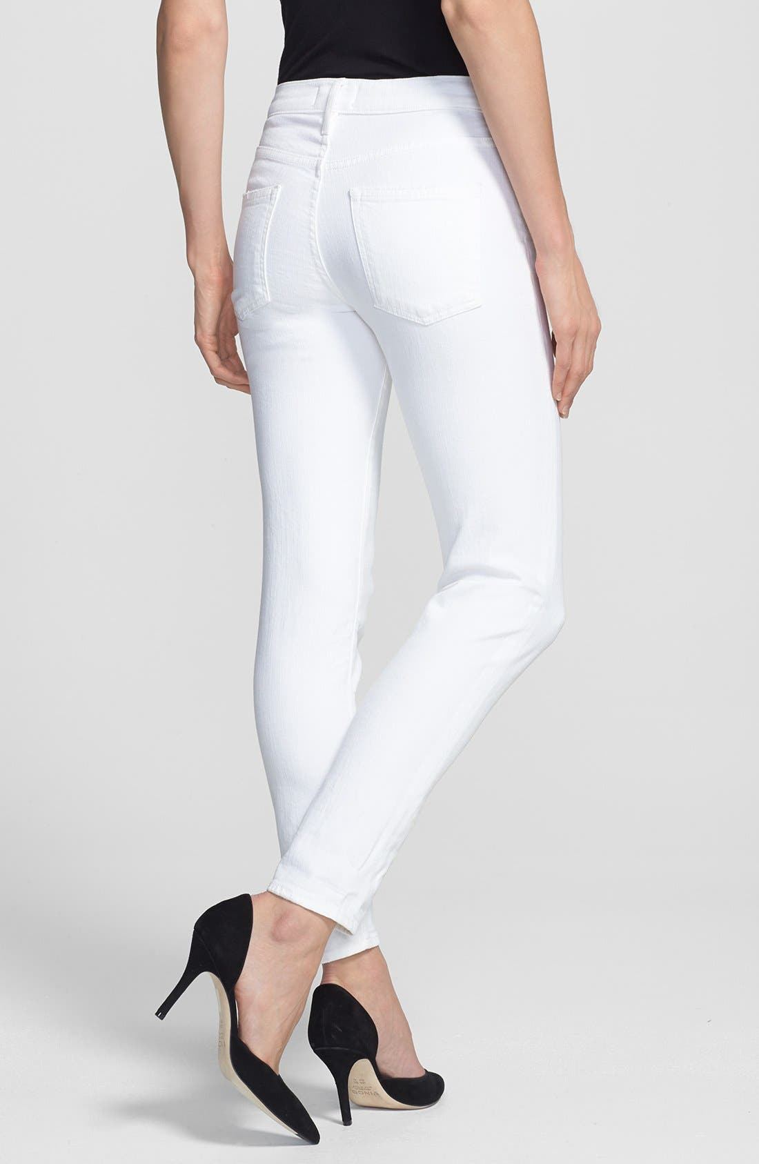 Alternate Image 2  - Vince Relaxed Rolled Skinny Jeans (Soft White)