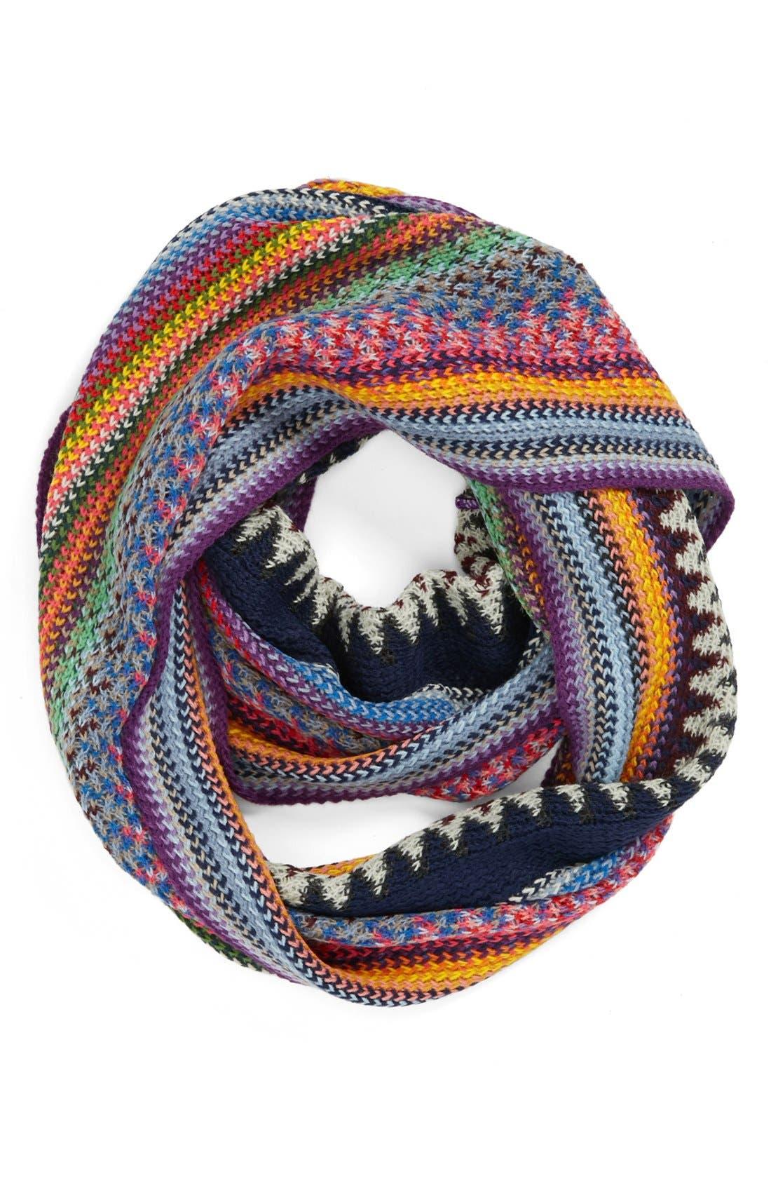 Alternate Image 1 Selected - Lulu Bright Stripe Infinity Scarf