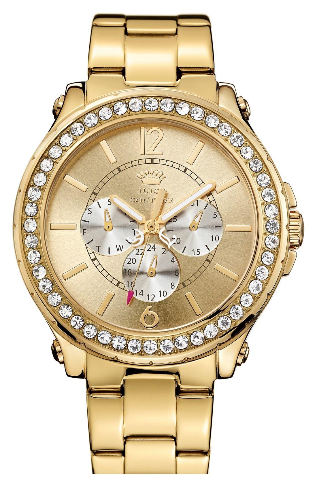 Alternate Image 1 Selected - Juicy Couture 'Pedigree' Multifunction Bracelet Watch, 42mm