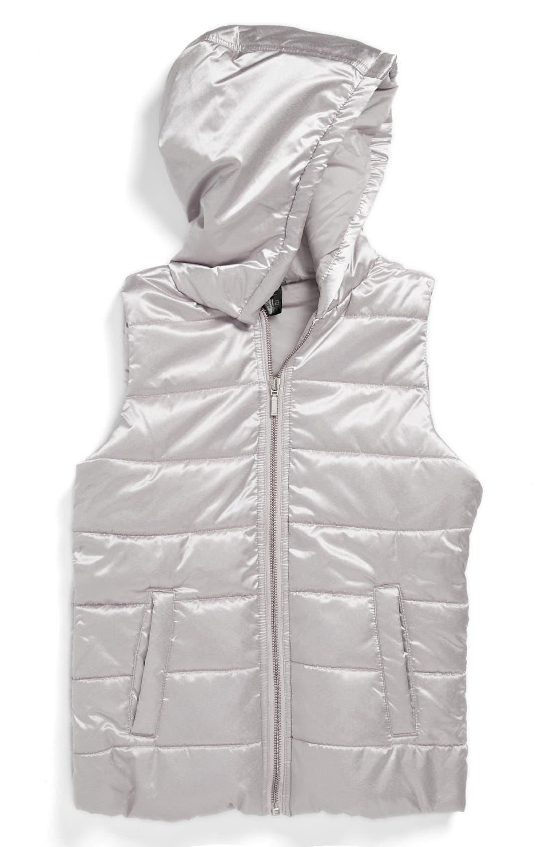 Alternate Image 1 Selected - Zella Hooded Vest (Little Girls & Big Girls)