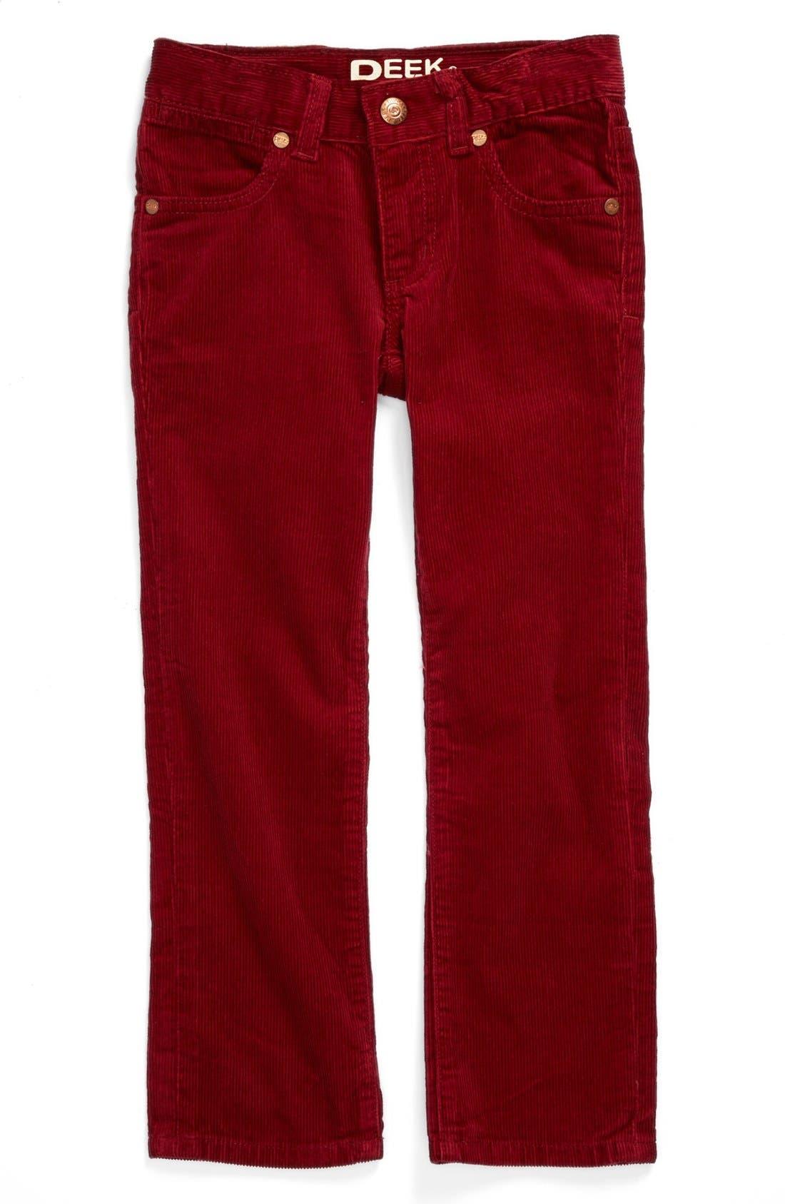 Alternate Image 1 Selected - Peek Straight Leg Corduroy Pants (Baby Boys)