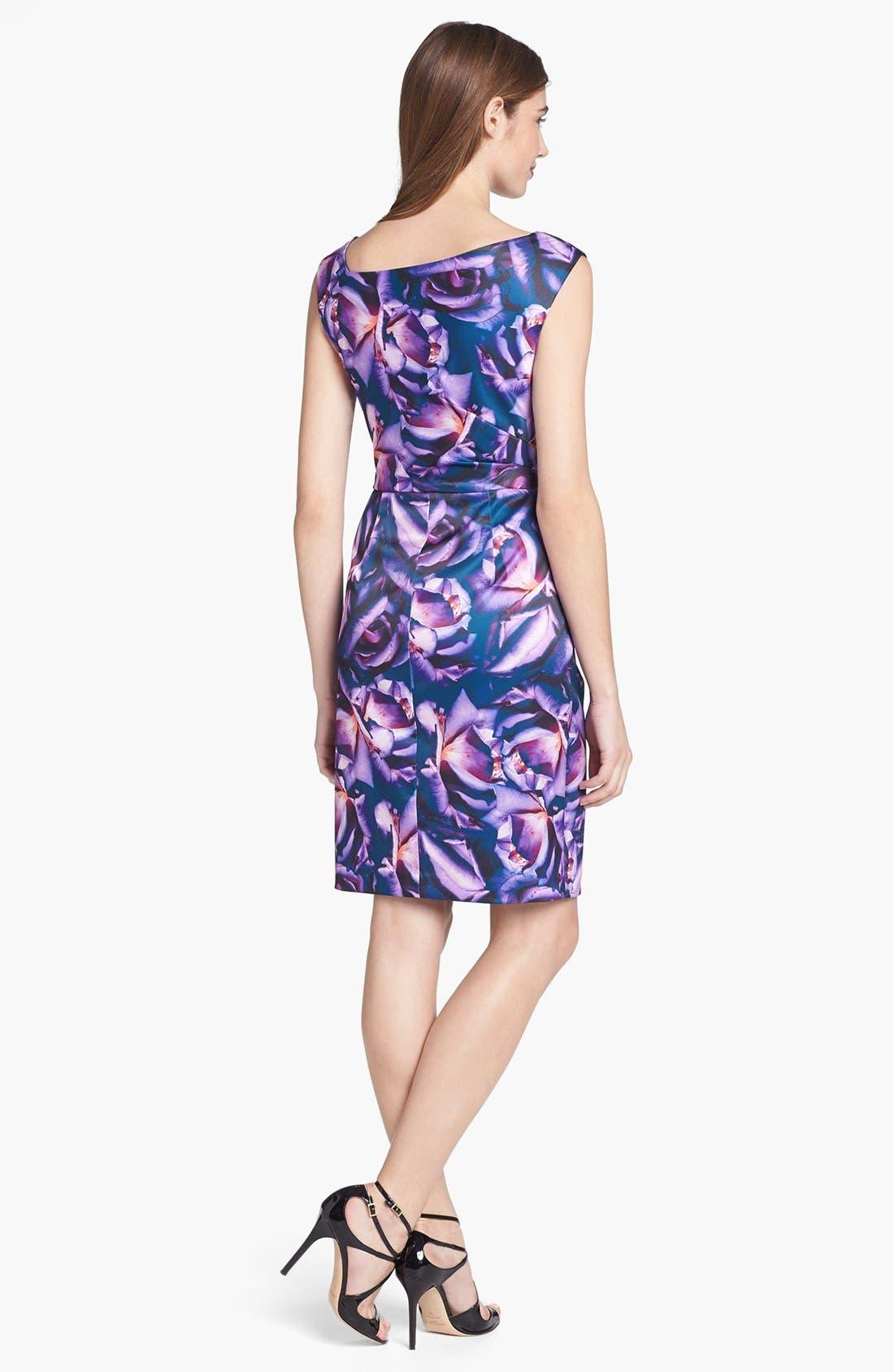 Alternate Image 2  - Ivy & Blu Print Satin Sheath Dress