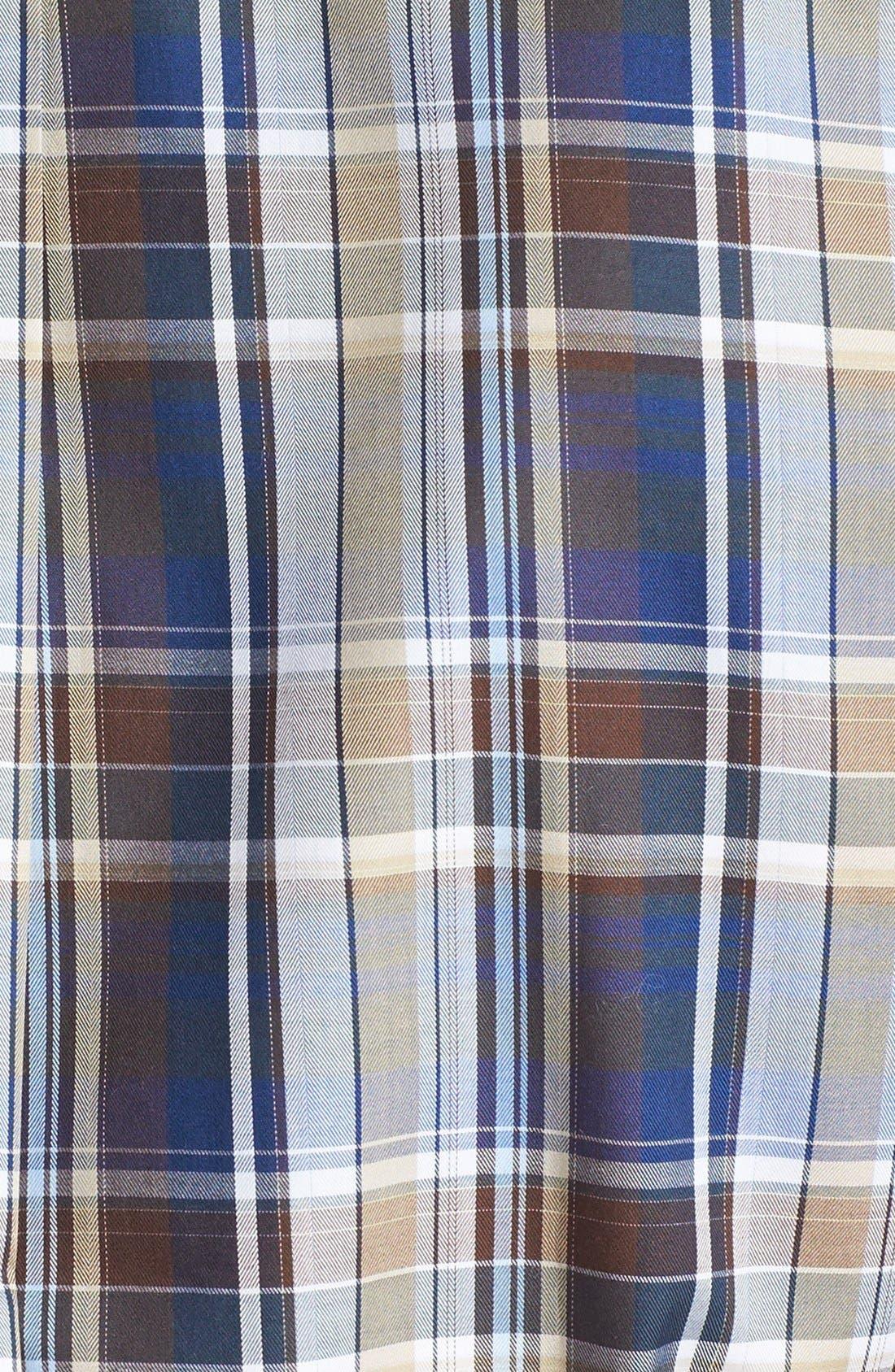 Alternate Image 3  - Peter Millar Plaid Sport Shirt (Tall)