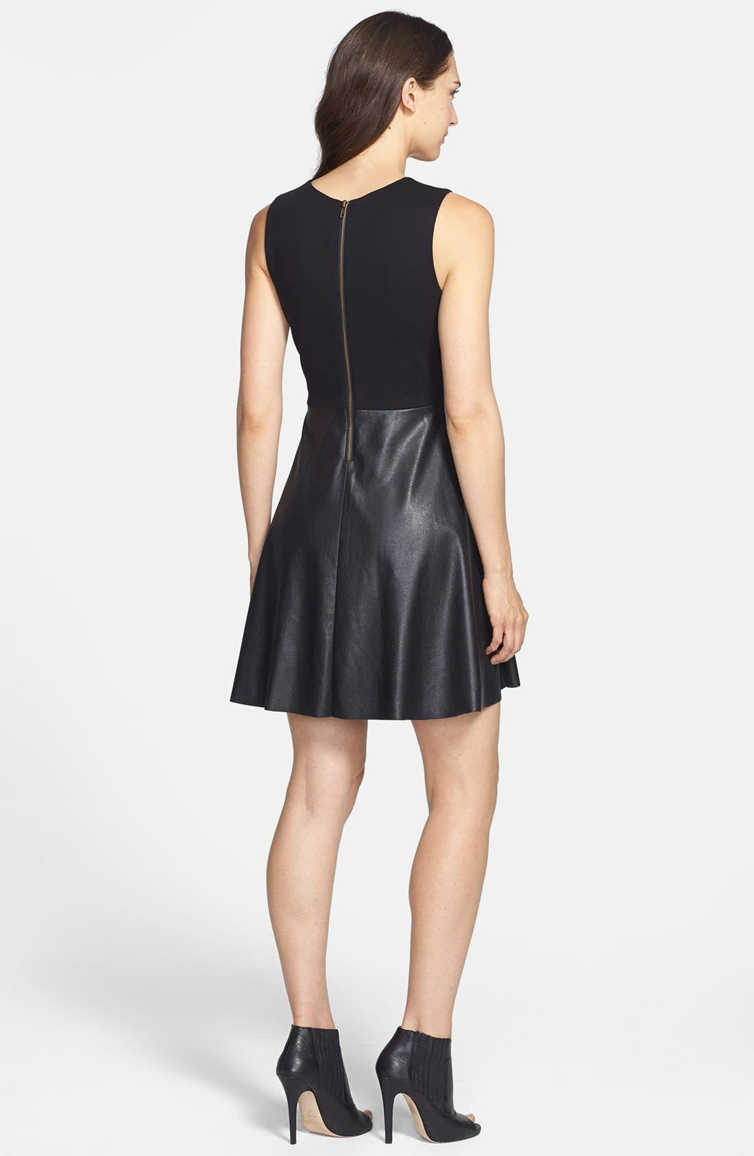 Alternate Image 2  - B44 Dressed by Bailey 44 'Betsy' Faux Leather Fit & Flare Dress