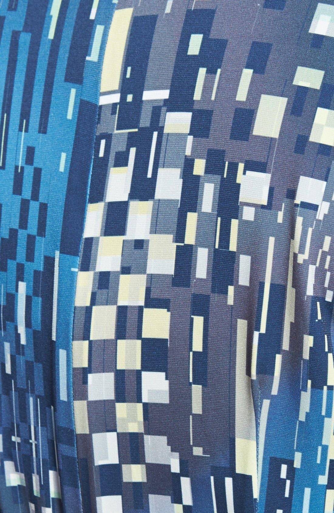 Alternate Image 3  - Ivy & Blu Print Faux Wrap Dress (Plus Size)