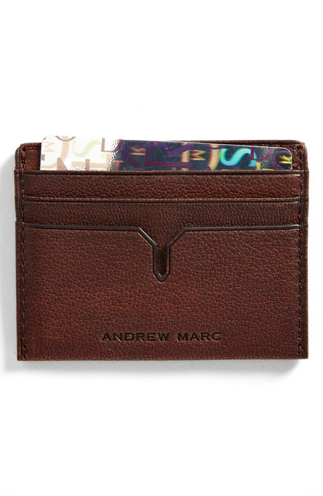 Main Image - Andrew Marc 'Bowery' Card Case