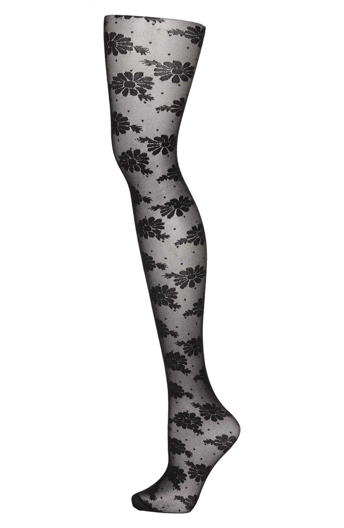 Alternate Image 1 Selected - Topshop 'Daisy Pin Spot' Tights
