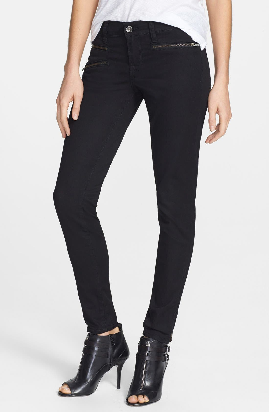 Main Image - Lucky Brand 'Charlie - Moto' Super Skinny Jeans