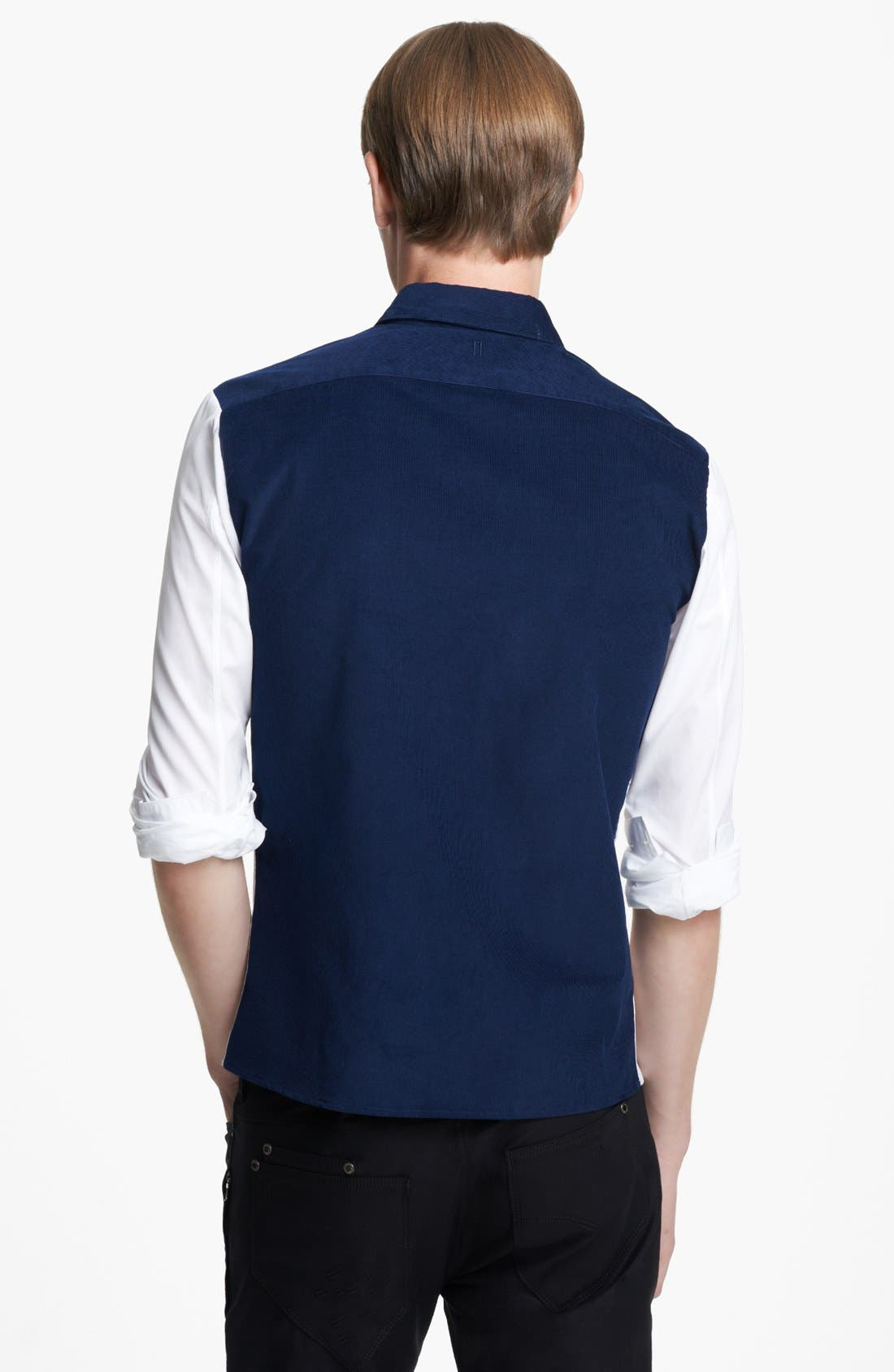 Alternate Image 2  - Neil Barrett Corduroy Colorblock Shirt