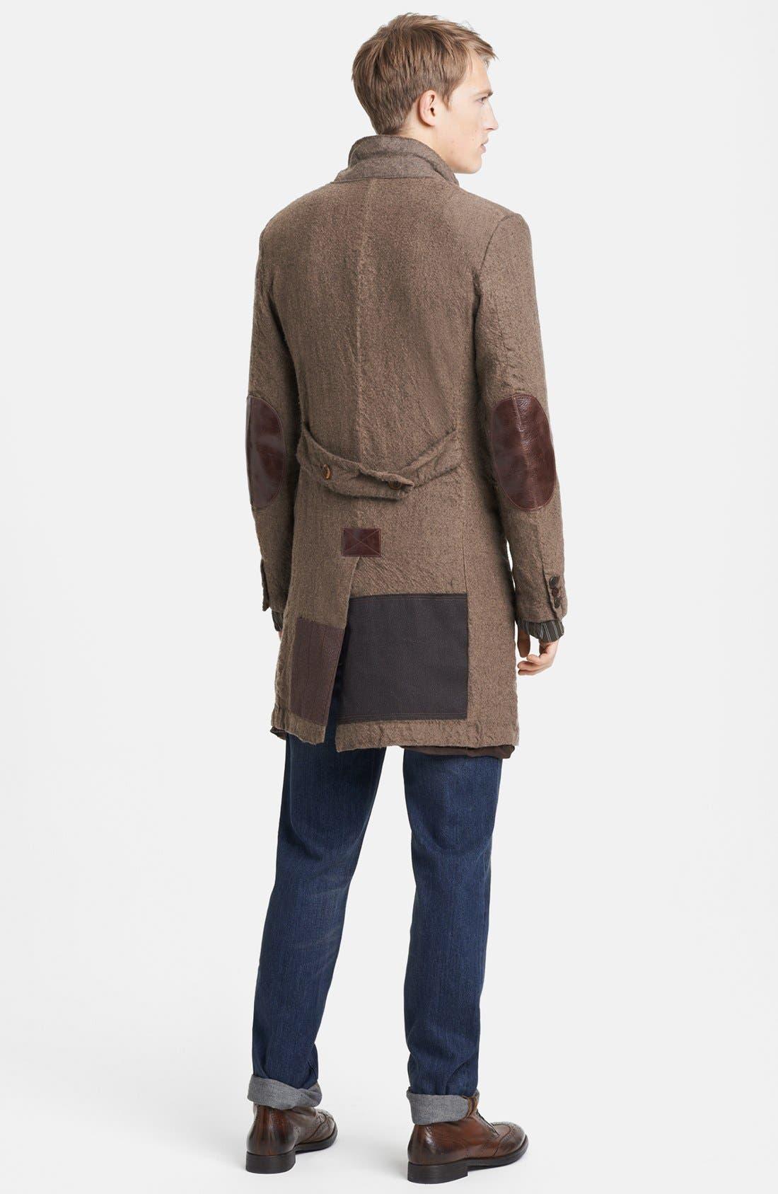 Alternate Image 5  - Junya Watanabe Patchwork Wool Overcoat