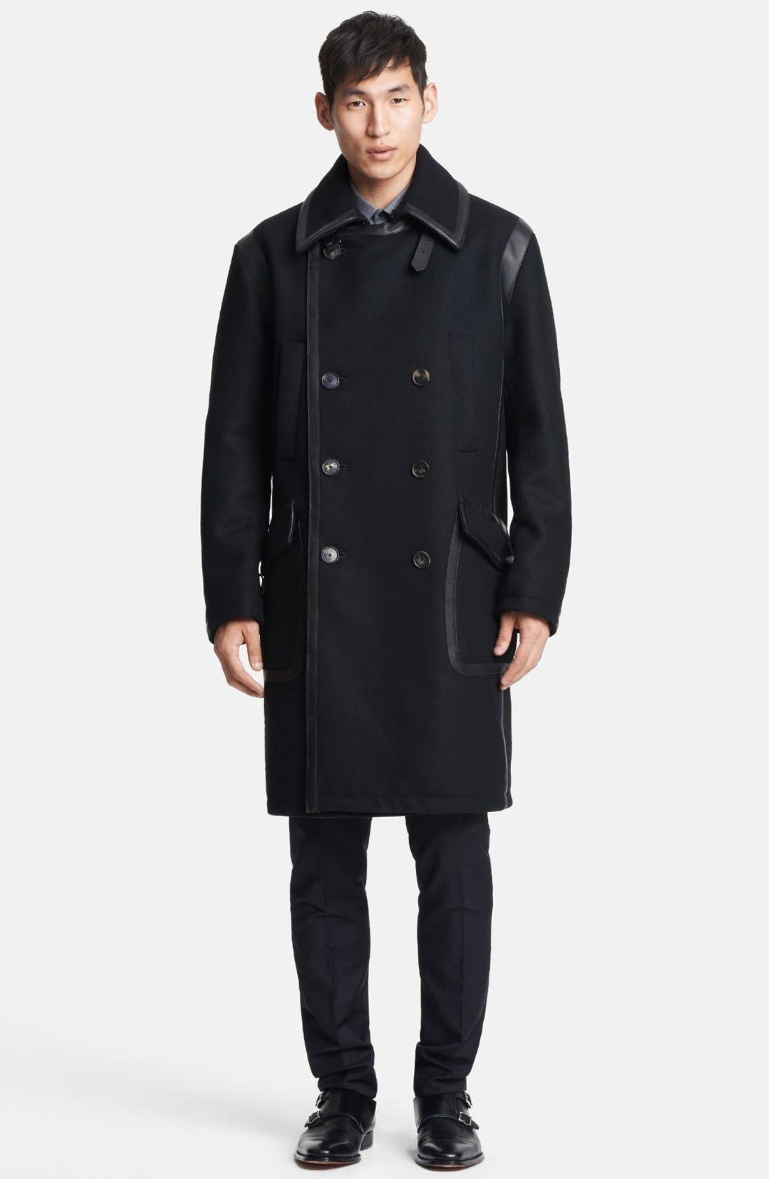 Alternate Image 1 Selected - Salvatore Ferragamo Double Breasted Wool Coat