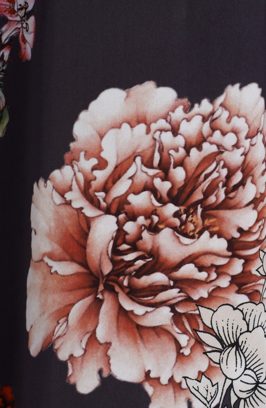 Alternate Image 3  - L'AGENCE Floral Print Ruffle Front Dress