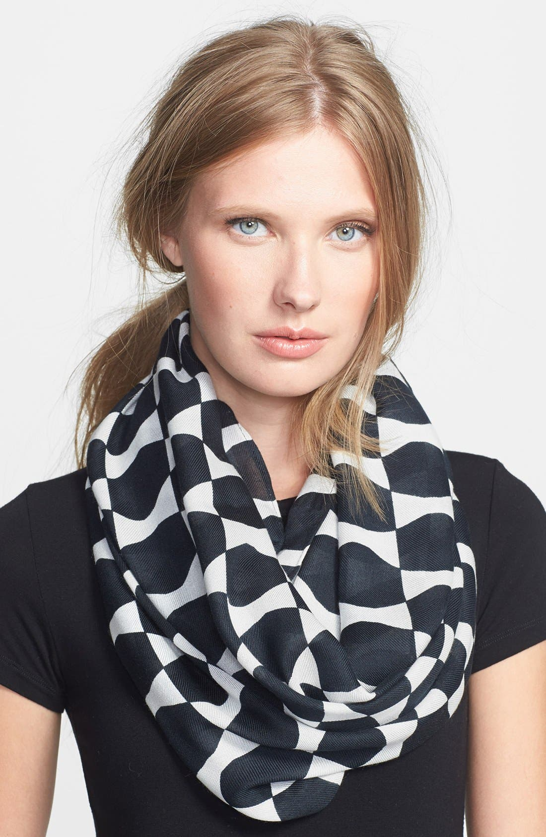 Alternate Image 1 Selected - kate spade new york 'abstract bow' infinity scarf