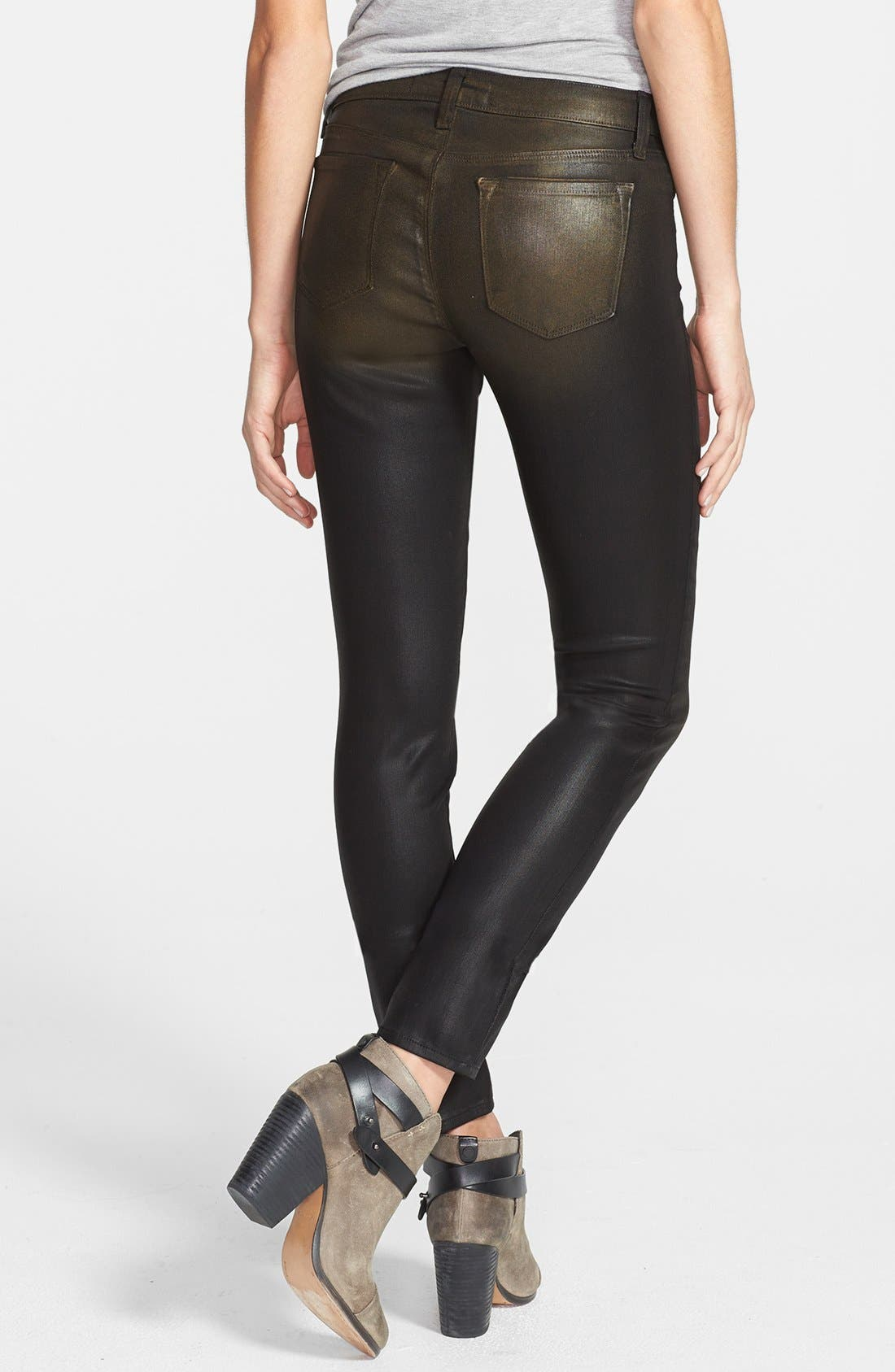 Alternate Image 2  - J Brand '620' Overdyed Skinny Leg Jeans (Diffused Gold)