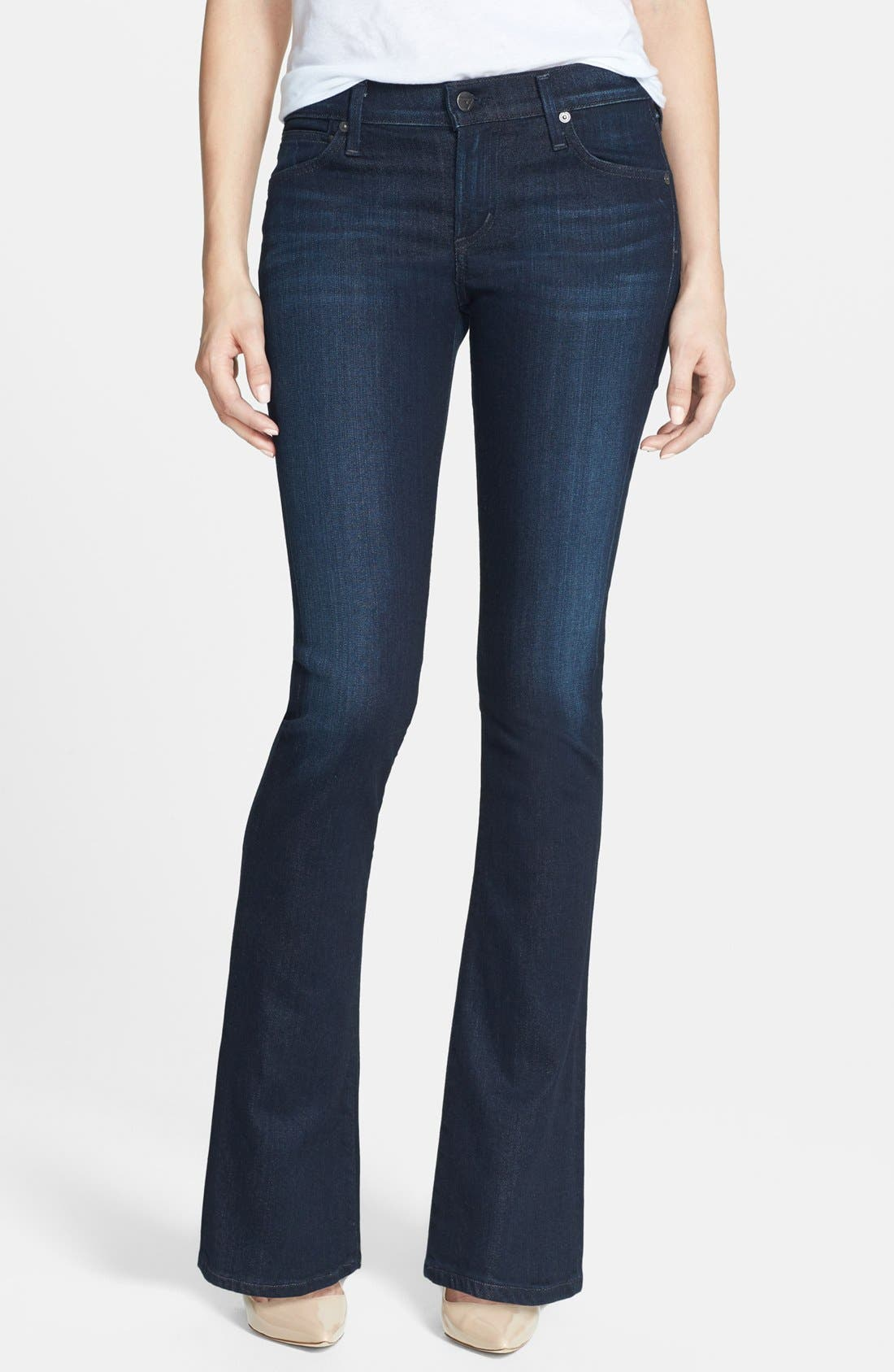 Alternate Image 1  - Citizens of Humanity 'Emmanuelle' Bootcut Jeans (Space) (Petite)