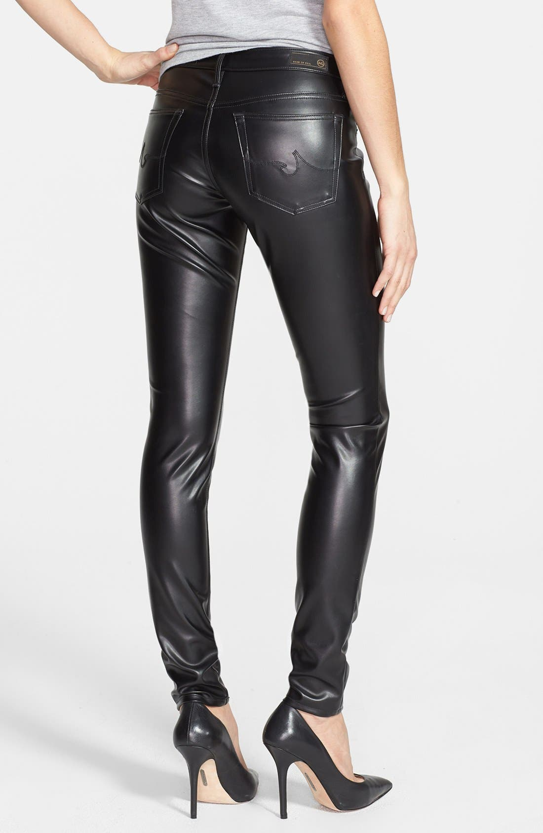 Alternate Image 2  - AG 'The Legging' Skinny Faux Leather Pants