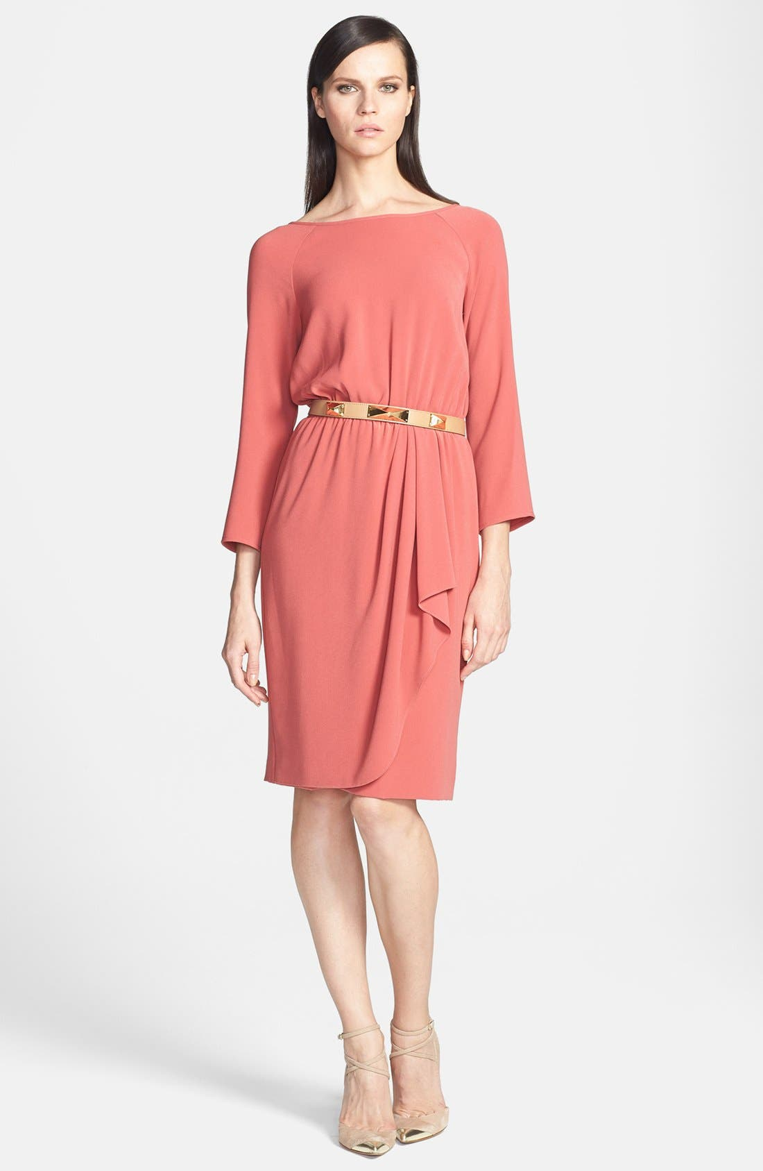 Main Image - St. John Collection Front Drape Crepe Dress