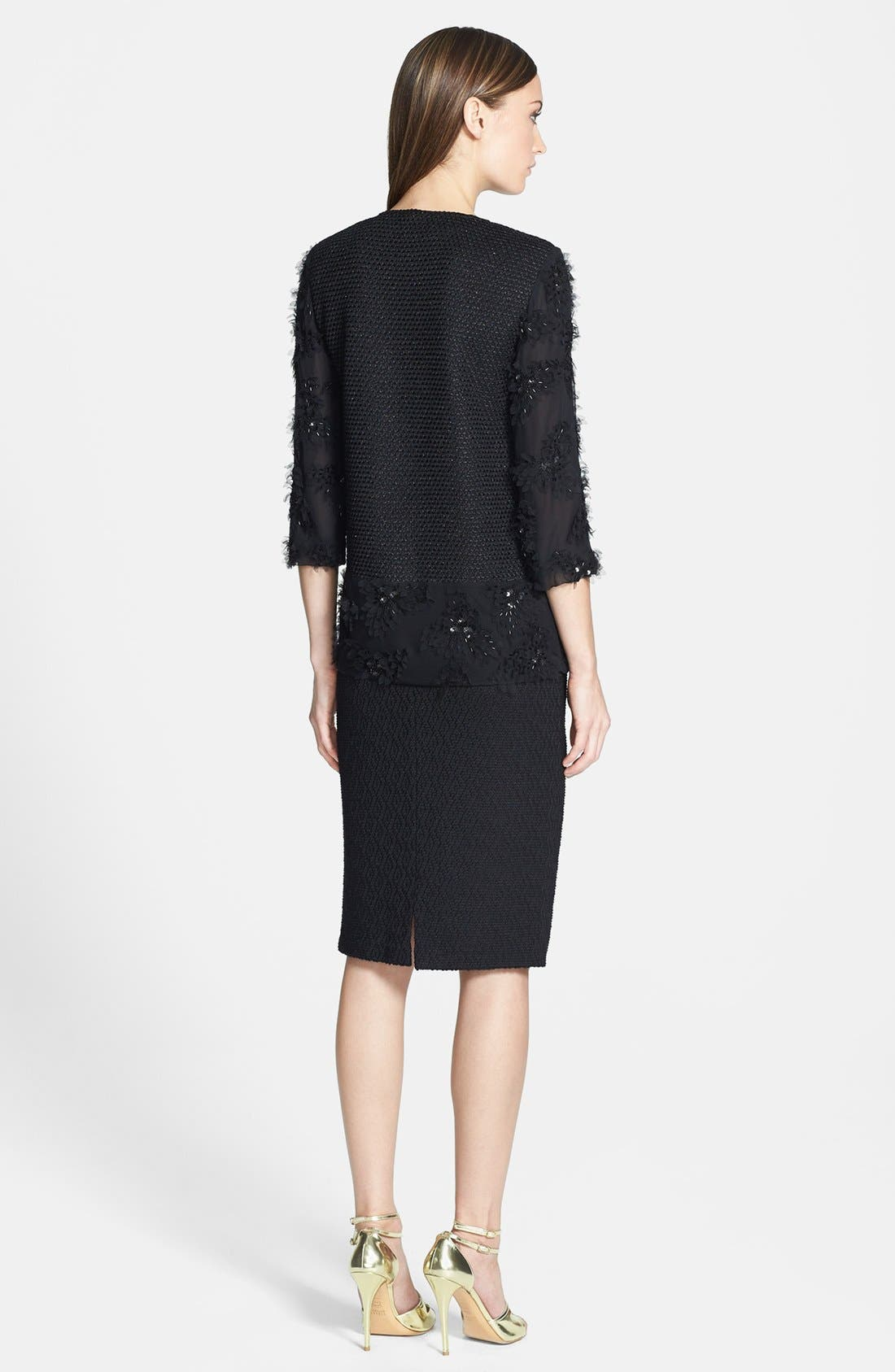 Alternate Image 5  - St. John Collection Diamond Dash Knit Skirt