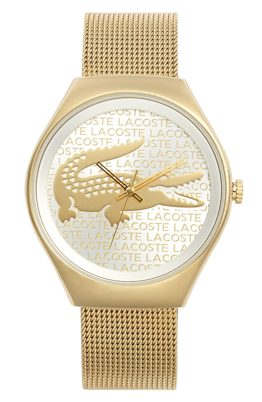 Main Image - Lacoste 'Valencia' Logo Dial Mesh Strap Watch, 38mm