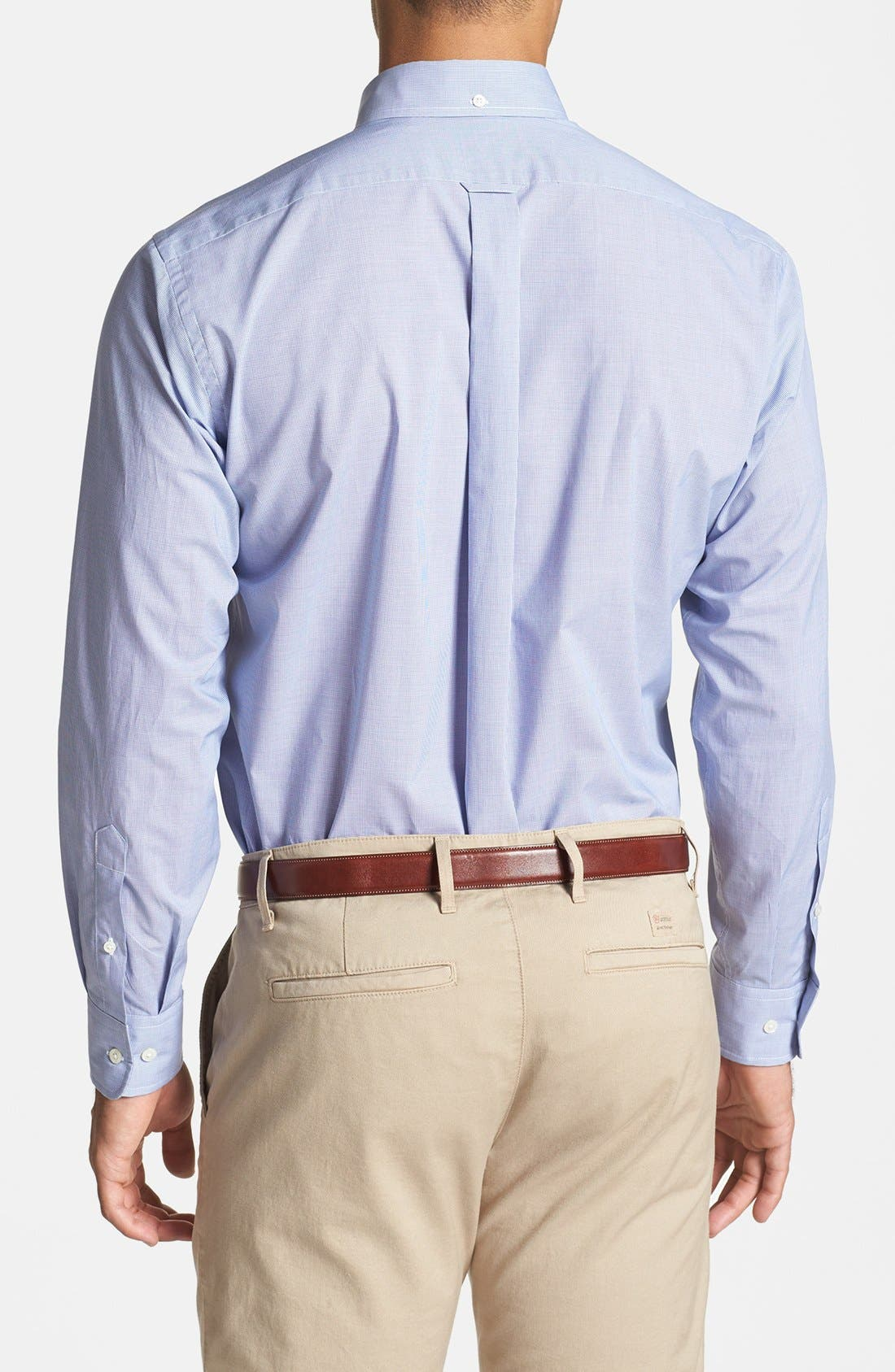 Alternate Image 2  - Façonnable Classique Fit Microcheck Sport Shirt