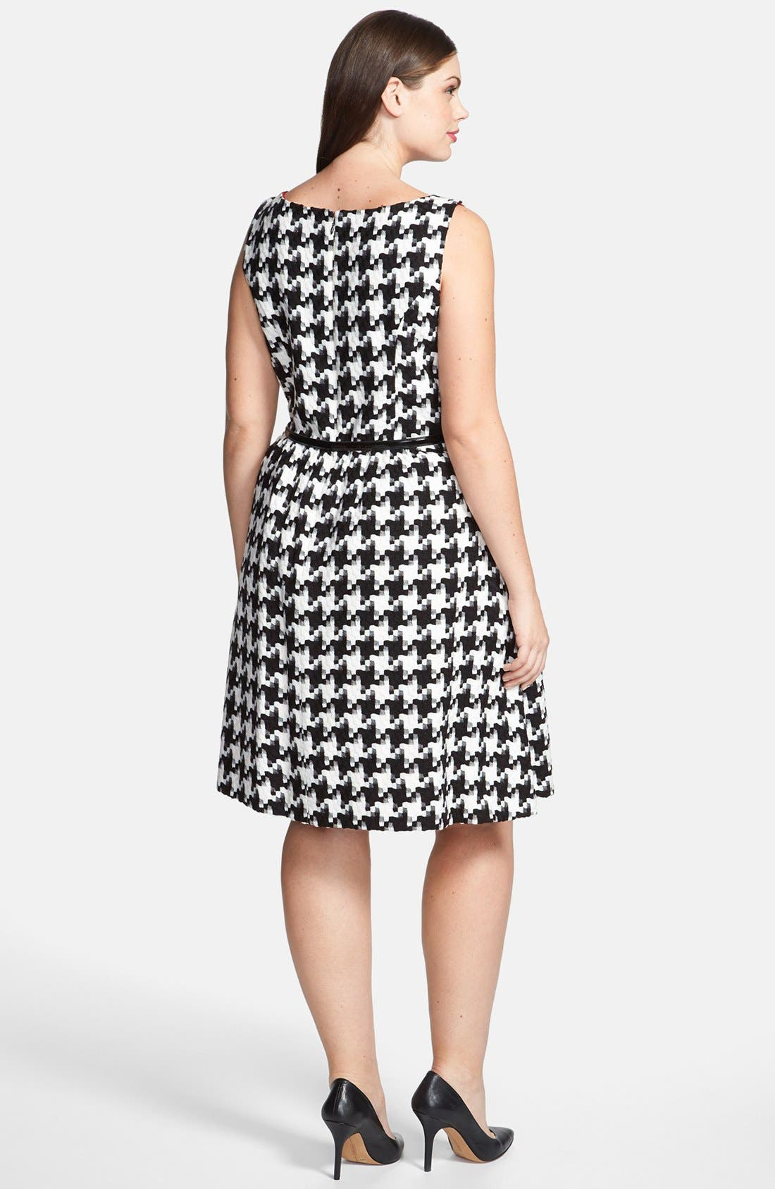 Alternate Image 2  - Jessica Simpson Houndstooth Dress (Plus Size)