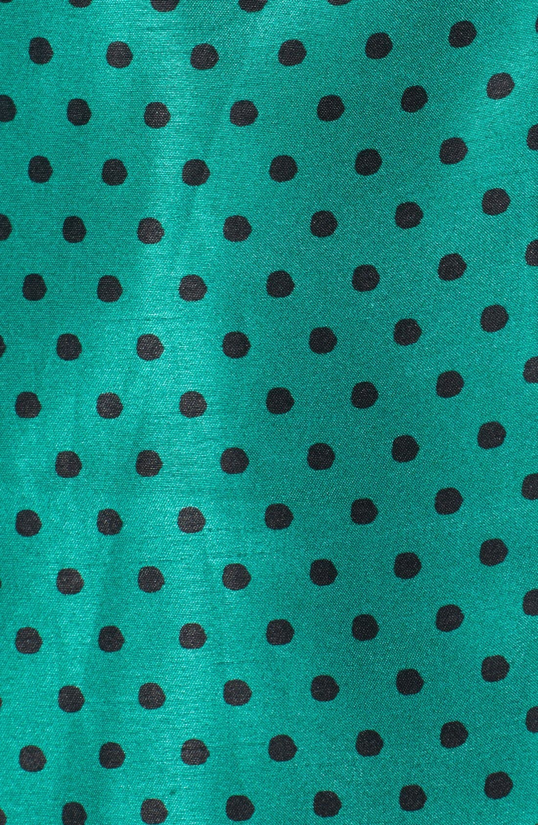 Alternate Image 3  - Taylor Dresses Polka Dot Taffeta Fit & Flare Dress