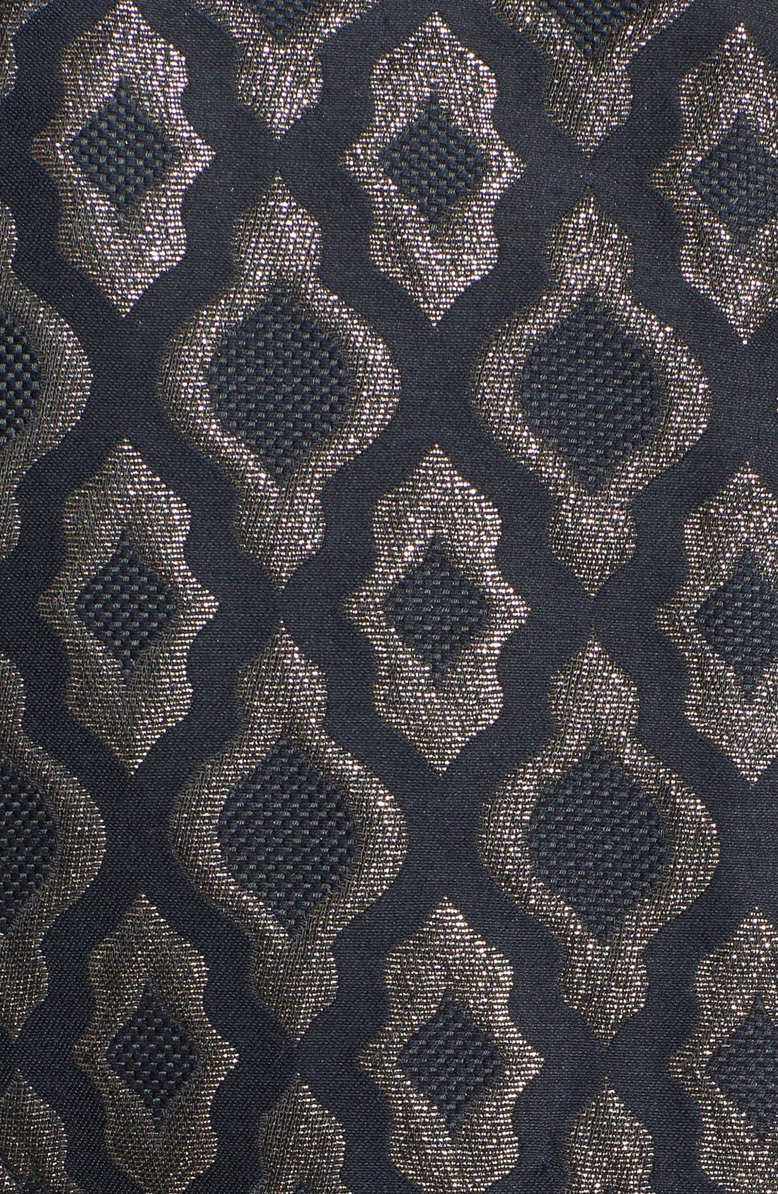 Alternate Image 3  - Laundry by Shelli Segal Embellished Metallic Jacquard & Ponte Sheath Dress