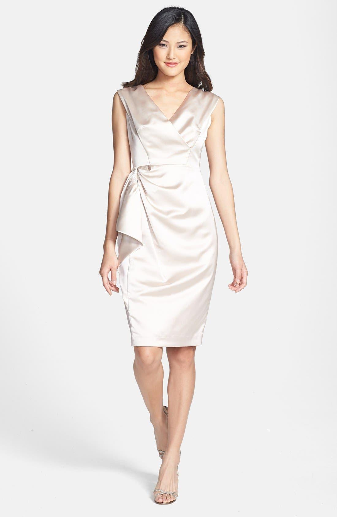Alternate Image 1 Selected - Maggy London Stretch Satin Sheath Dress (Regular & Petite)