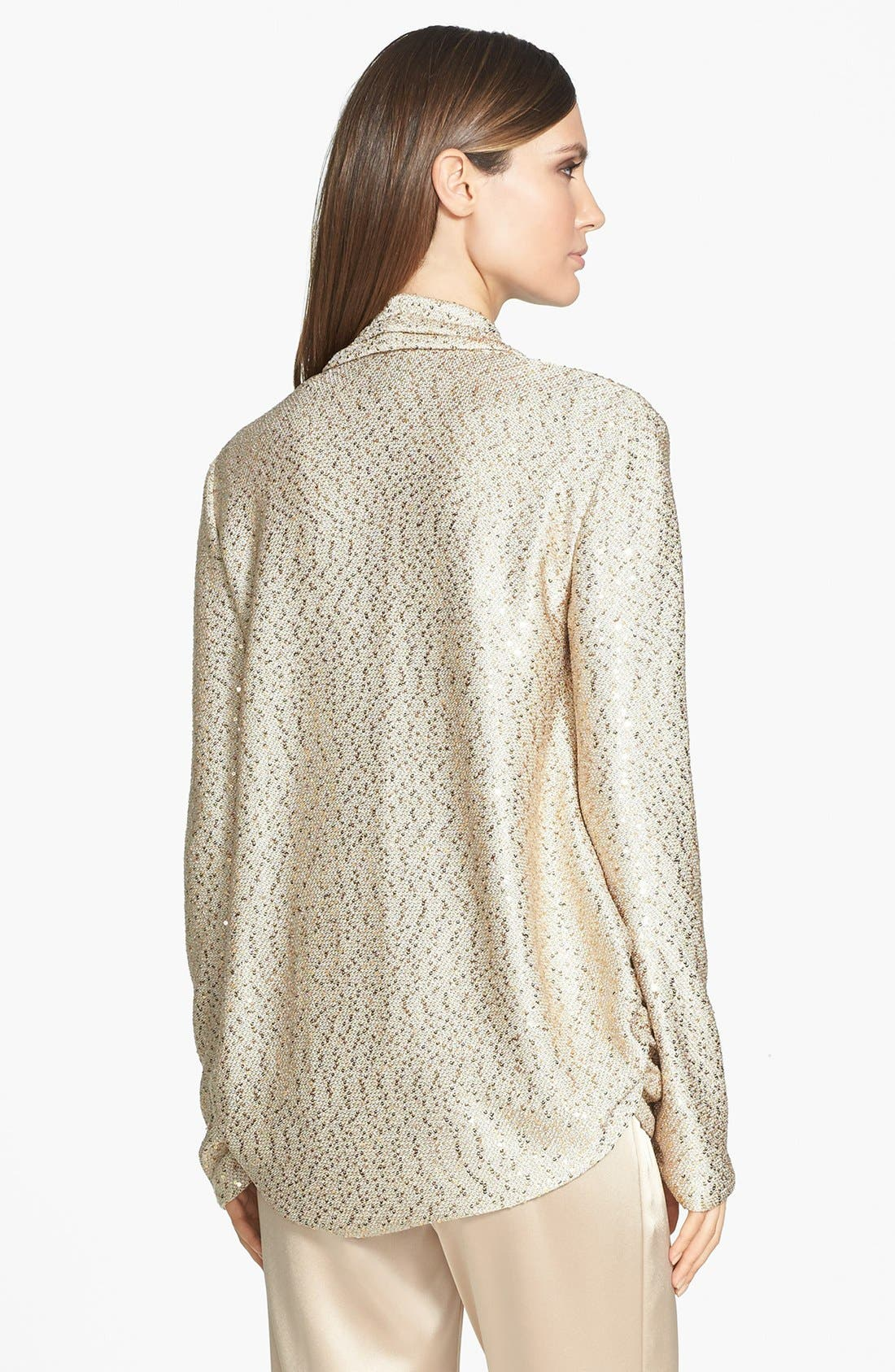 Alternate Image 4  - St. John Collection Sequin Ruched Knit Cardigan