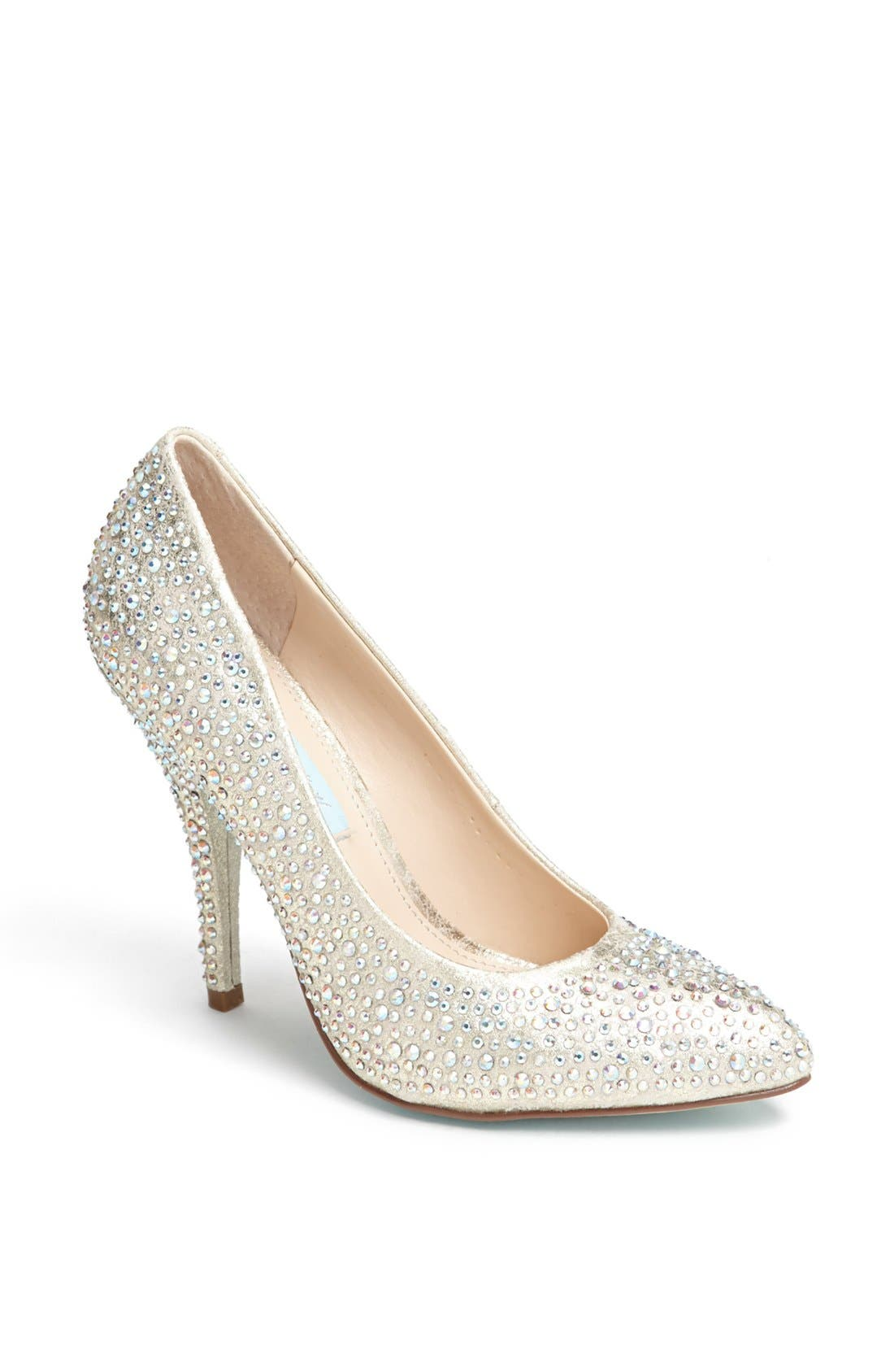 Alternate Image 1 Selected - Blue by Betsey Johnson 'Shine' Pointy Toe Pump