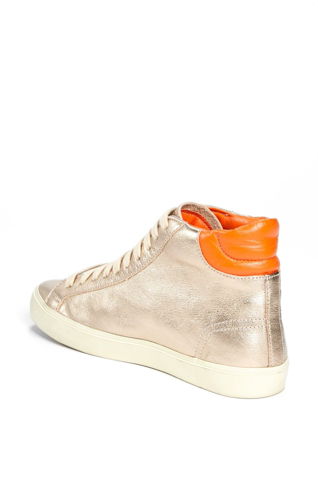 Alternate Image 2  - Tory Burch 'Caleb' High Top Leather Sneaker