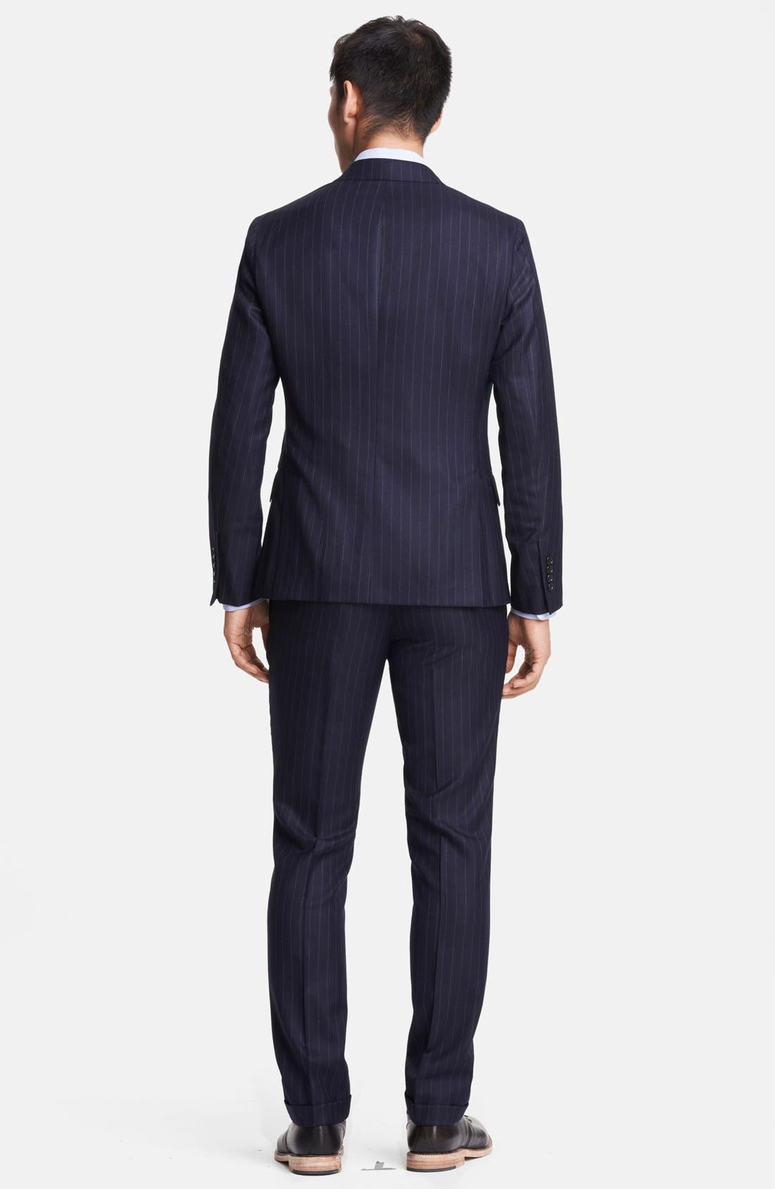 Alternate Image 3  - Todd Snyder Navy Pinstripe Wool Suit