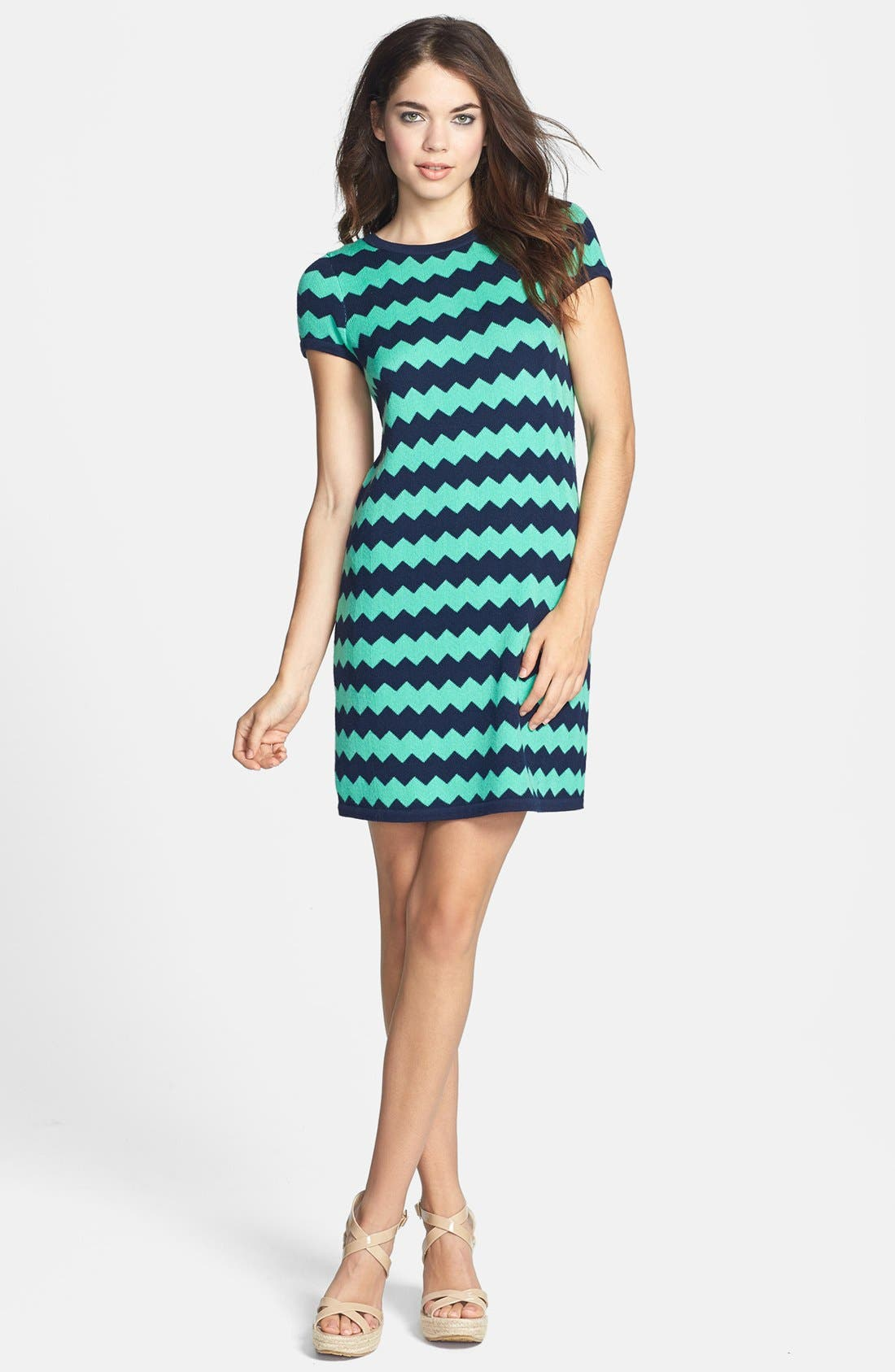 Alternate Image 1 Selected - Lilly Pulitzer® Stripe Merino Wool Sweater Dress