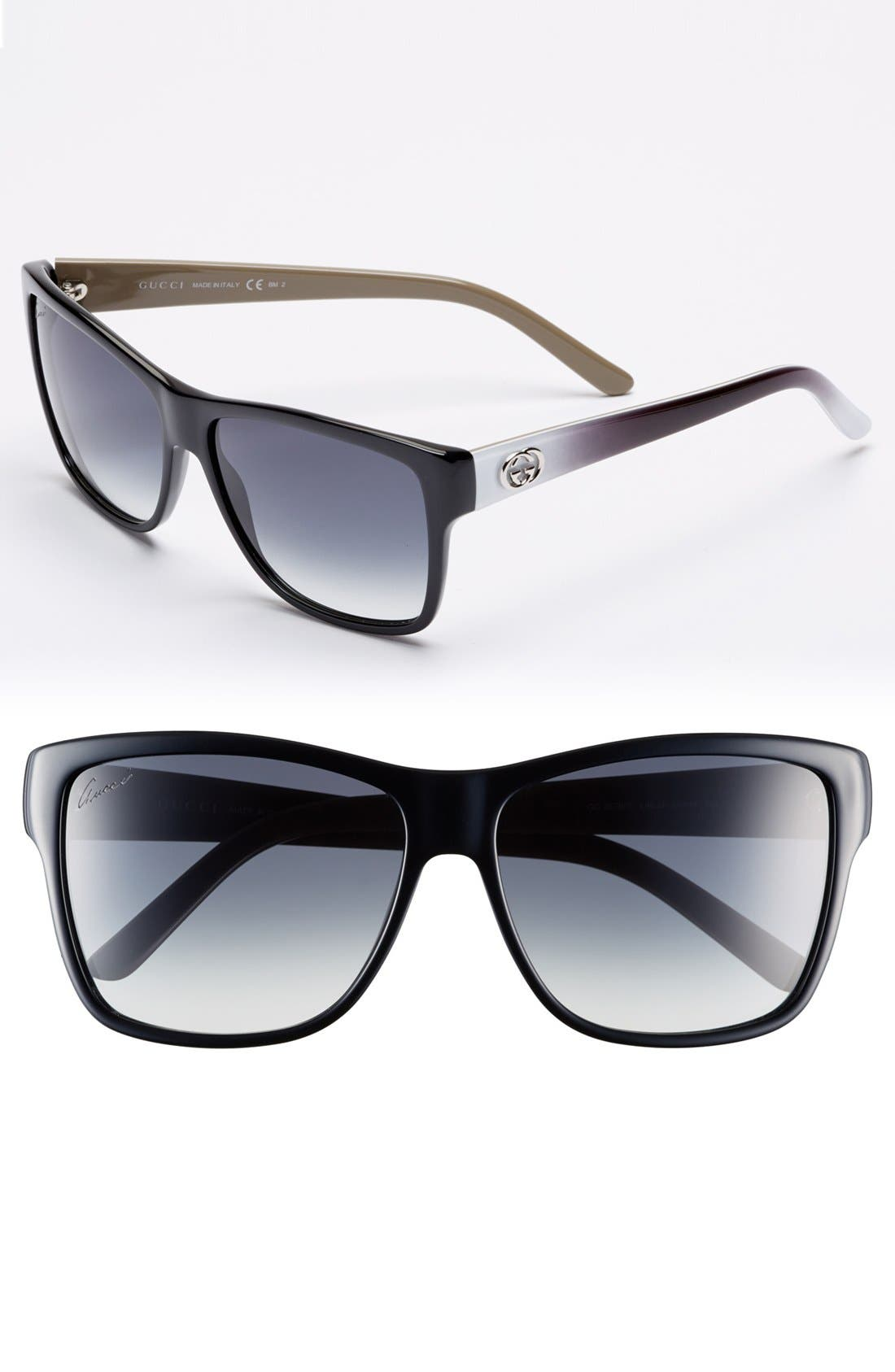 Alternate Image 1 Selected - Gucci 58mm Retro Sunglasses