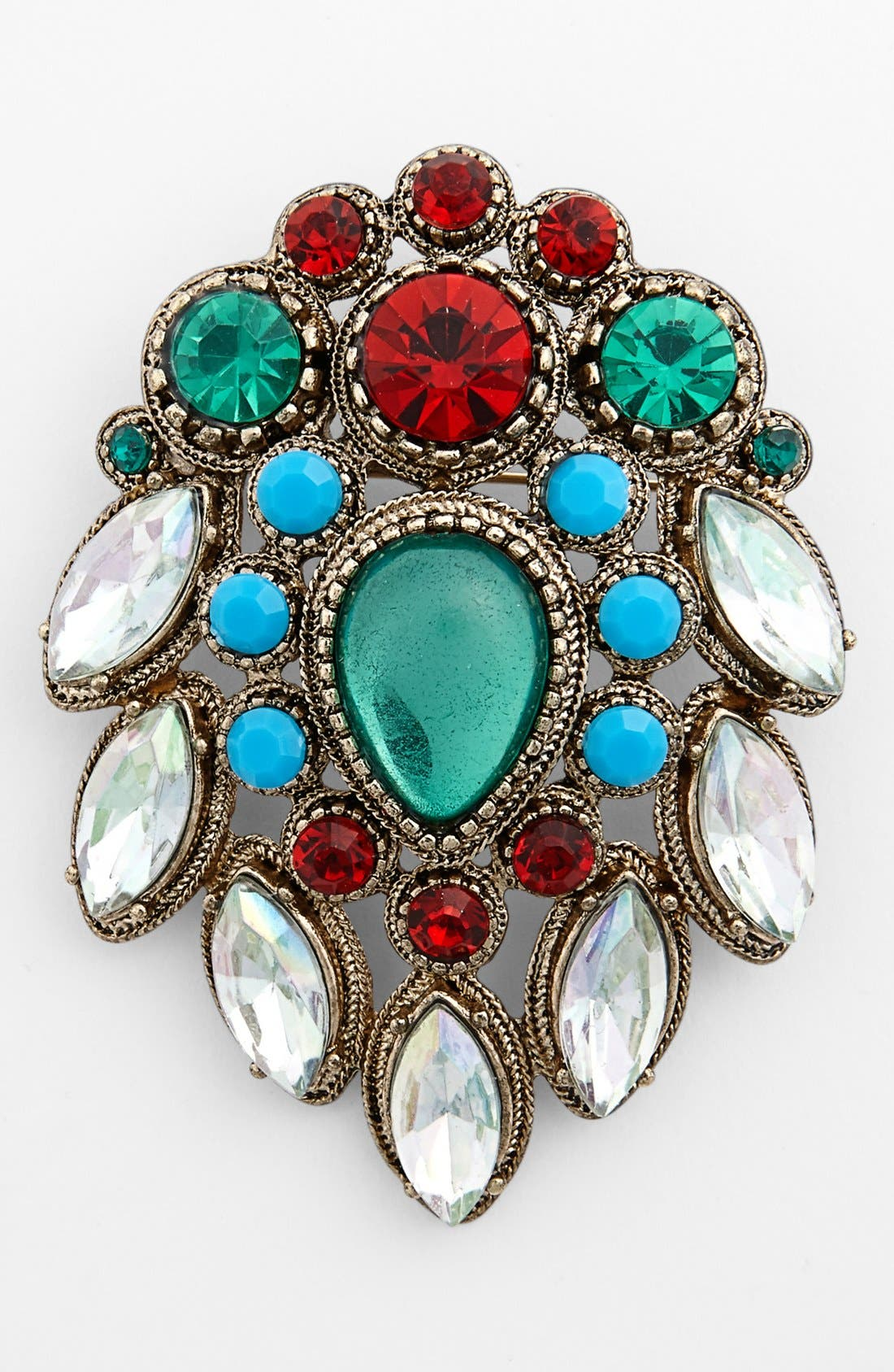 Alternate Image 1 Selected - Topshop Vintage Stone Brooch